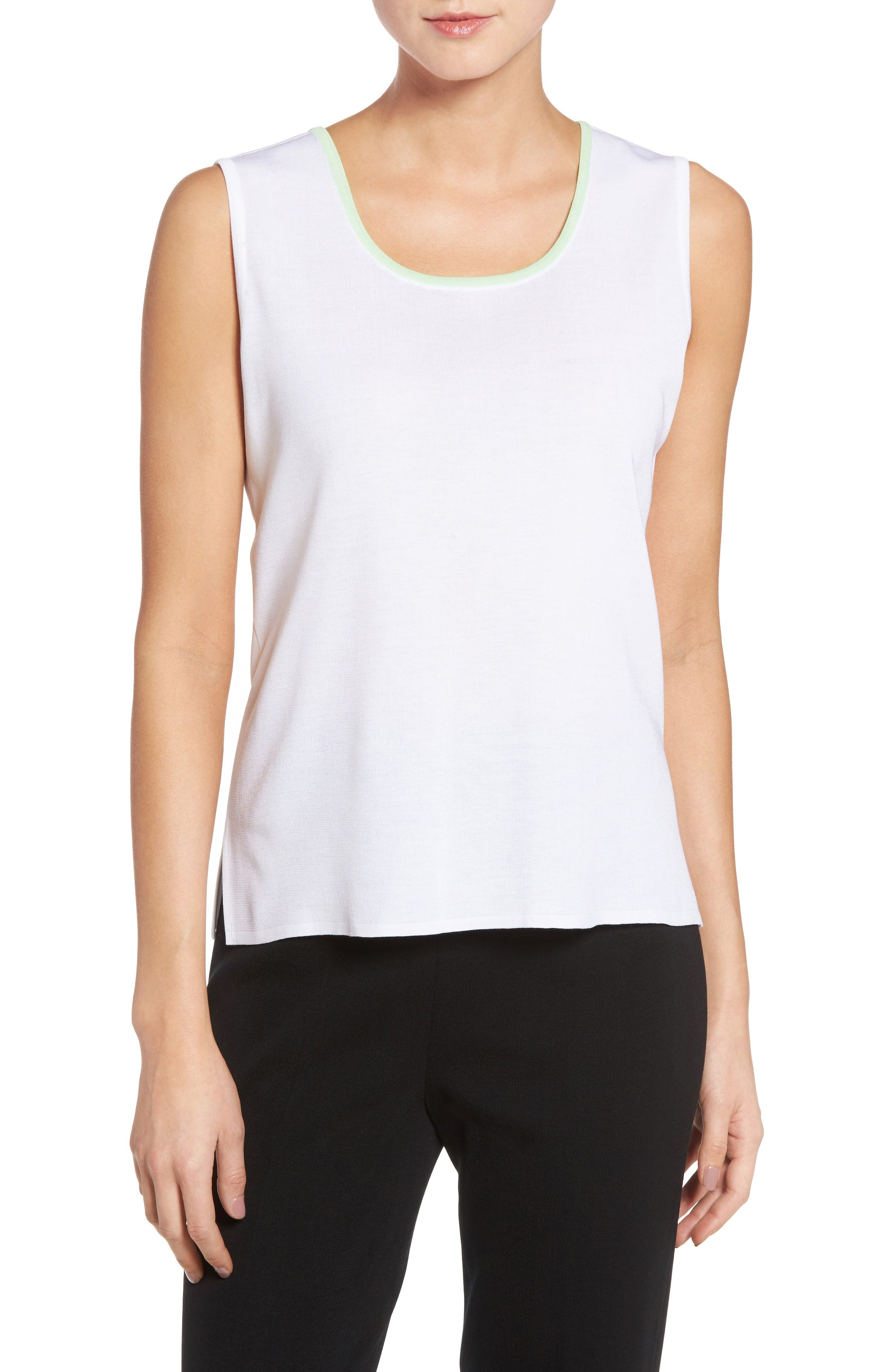 Ming Want Tipped Knit Tank