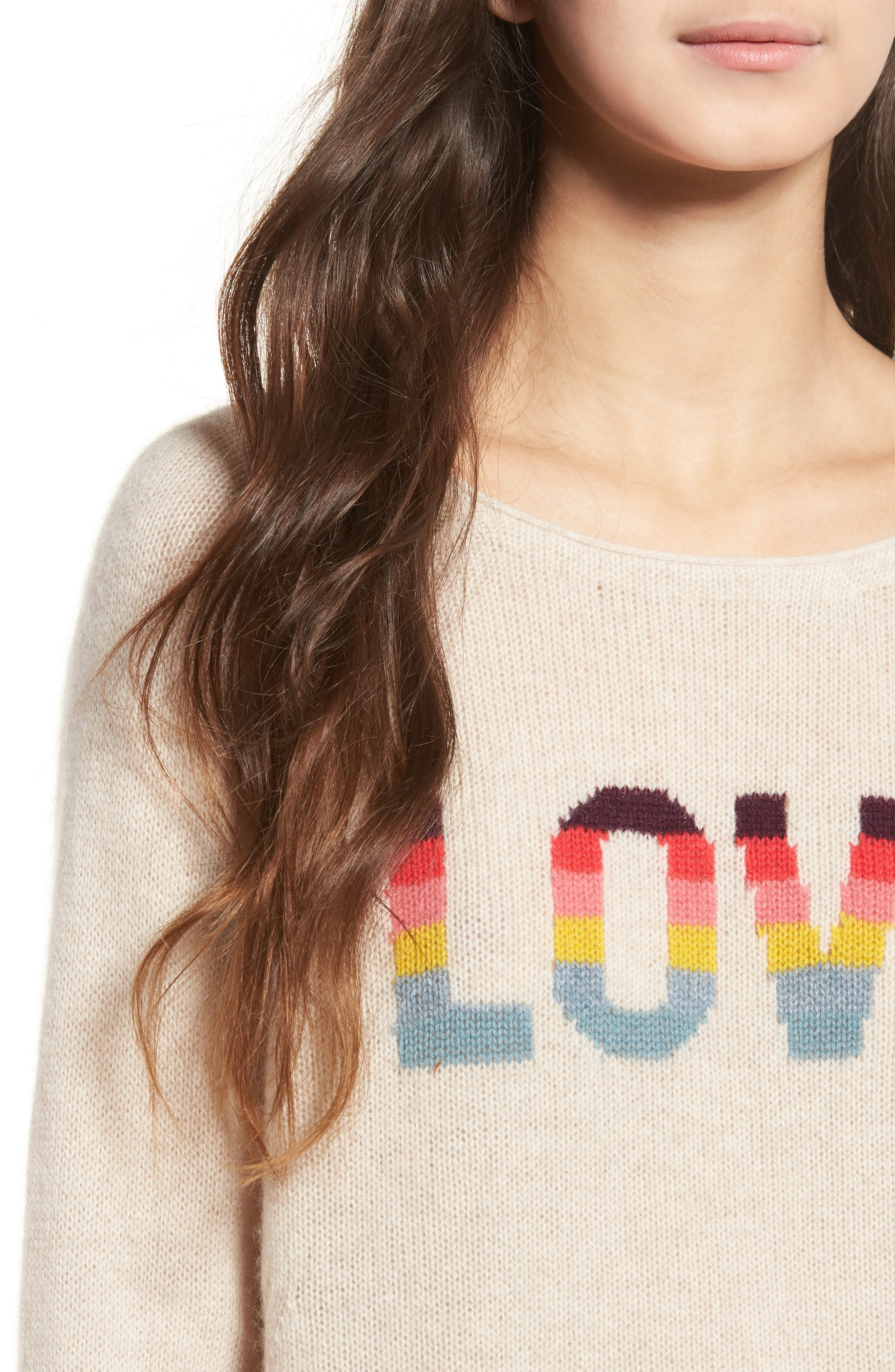 Alternate Image 4  - Zadig & Voltaire Baly Bis Cashmere Sweater