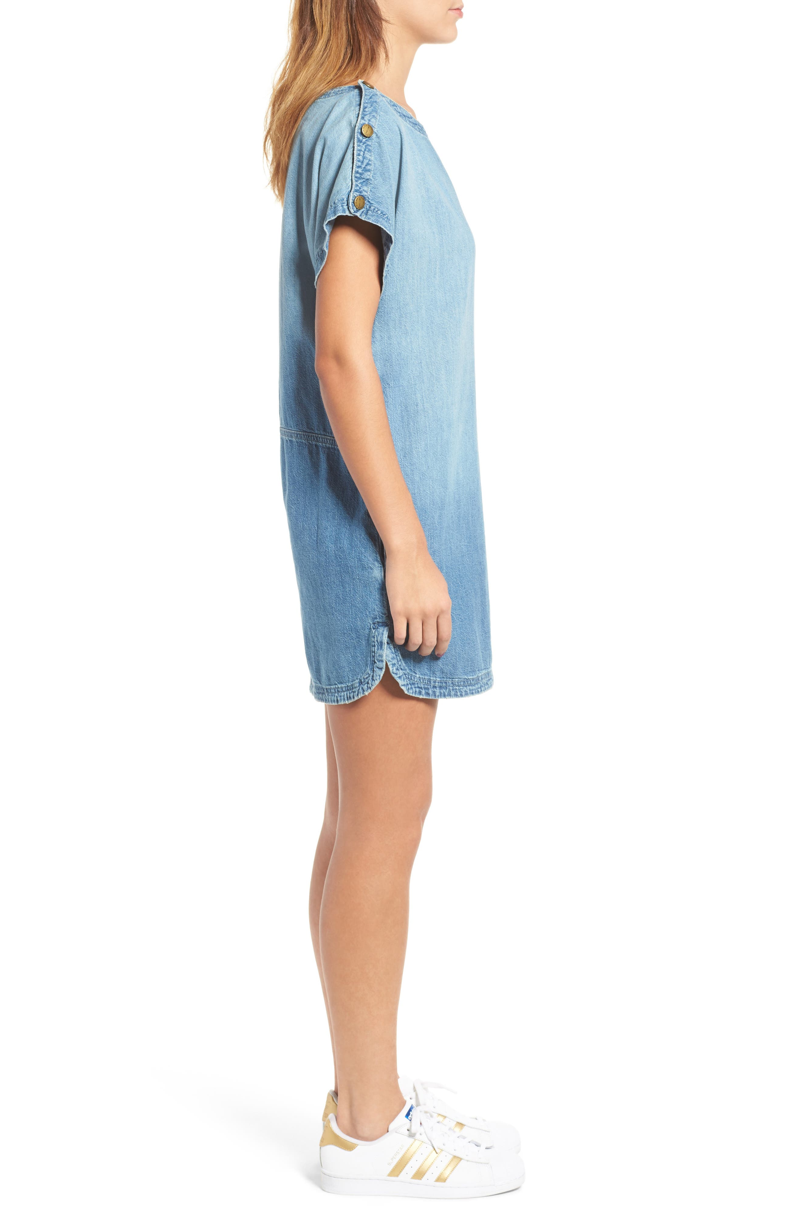 Alternate Image 3  - Current/Elliott Denim T-Shirt Dress