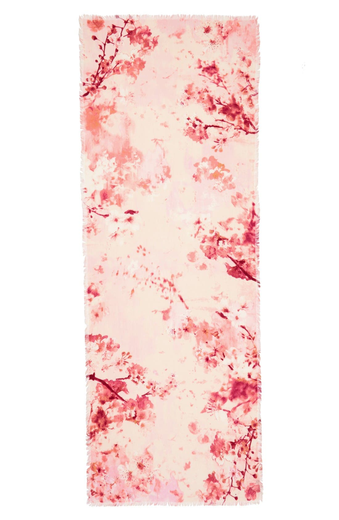 Alternate Image 2  - Nordstrom Graceful Hanami Cashmere & Silk Scarf