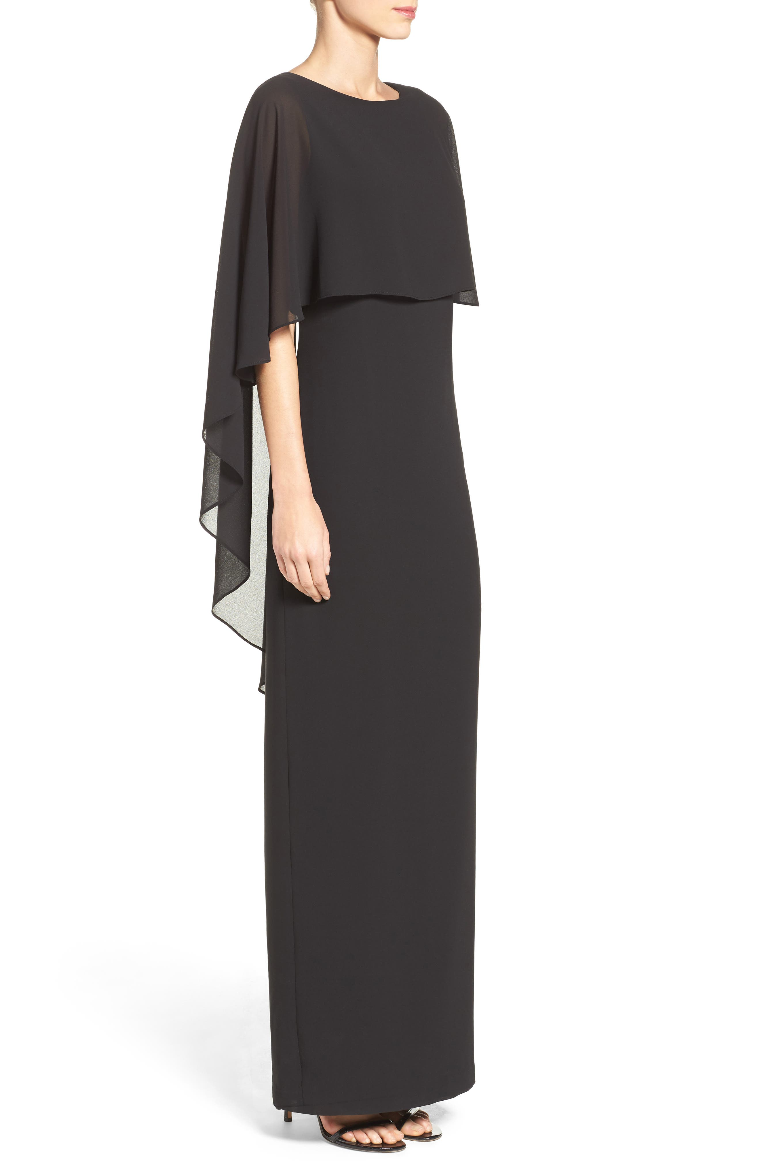 Alternate Image 3  - Vince Camuto Cape Overlay Gown