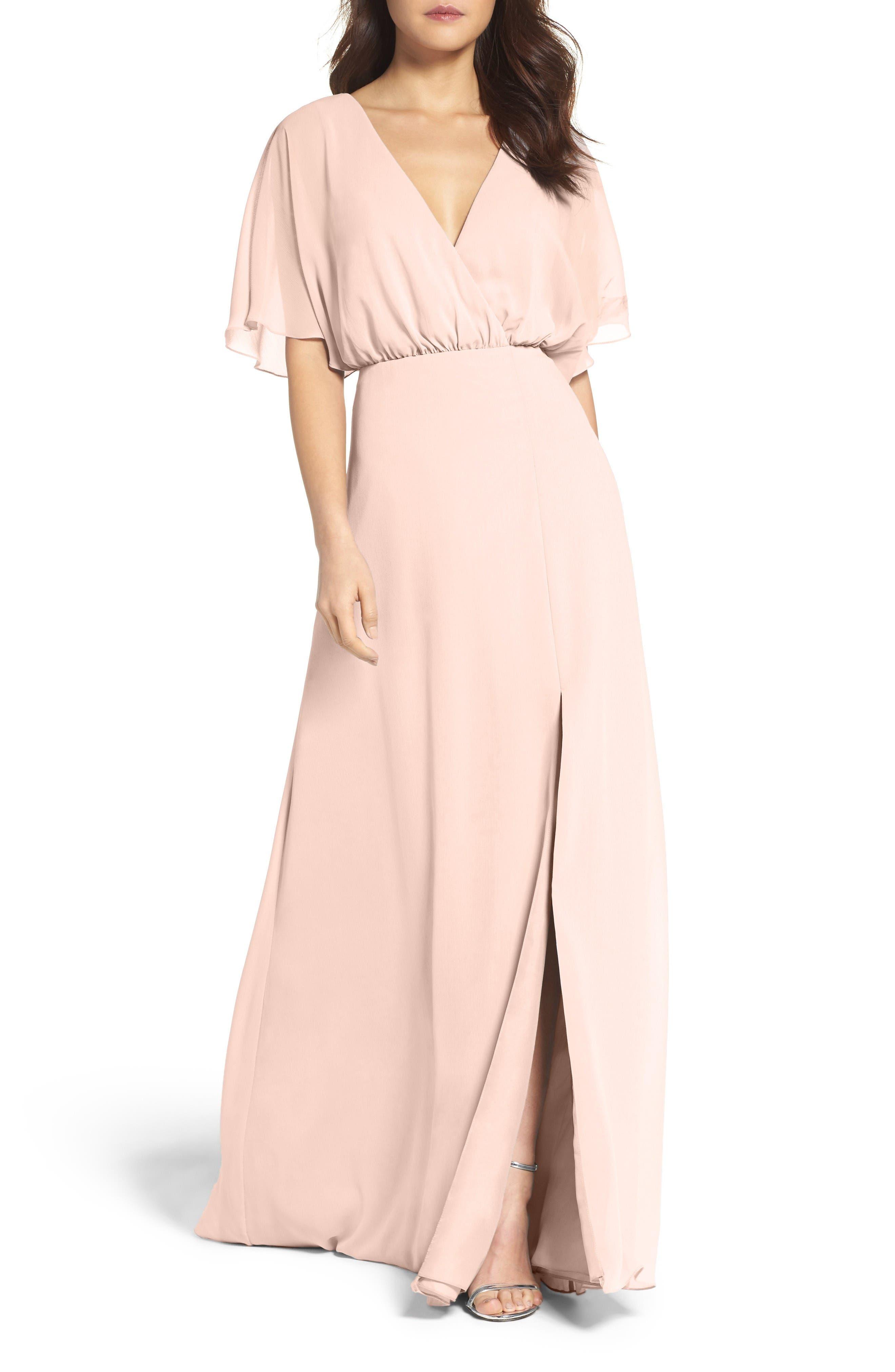 Watters Lottie A-Line Chiffon Gown