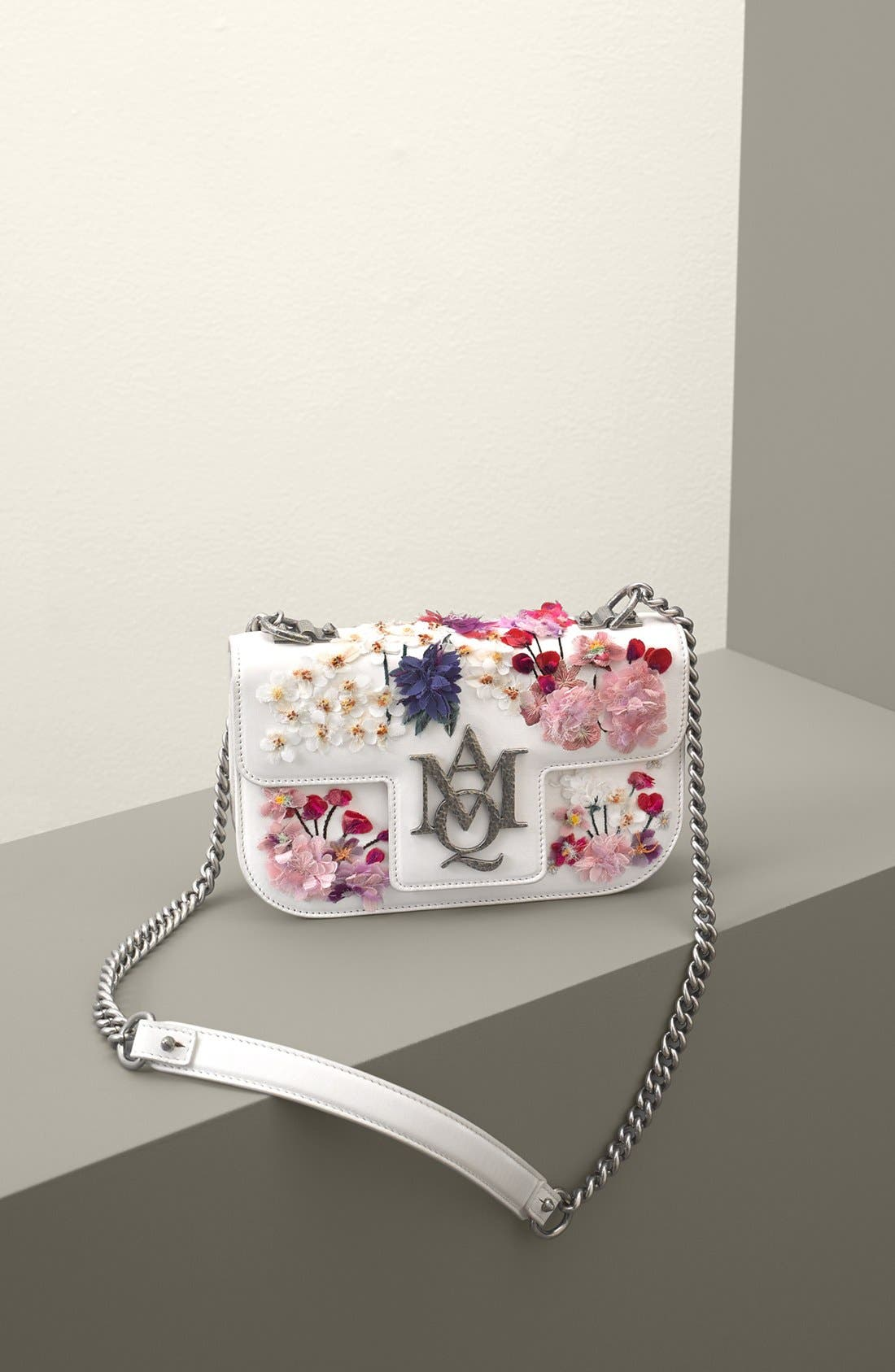 Alternate Image 5  - Alexander McQueen Small Insignia Leather Shoulder Bag