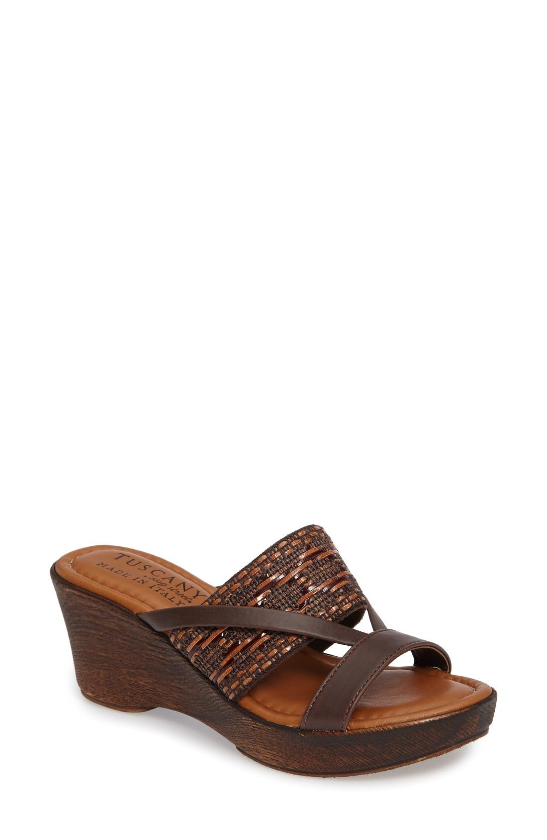 TUSCANY by Easy Street® Rachele Strappy Wedge Platform Sandal (Women)