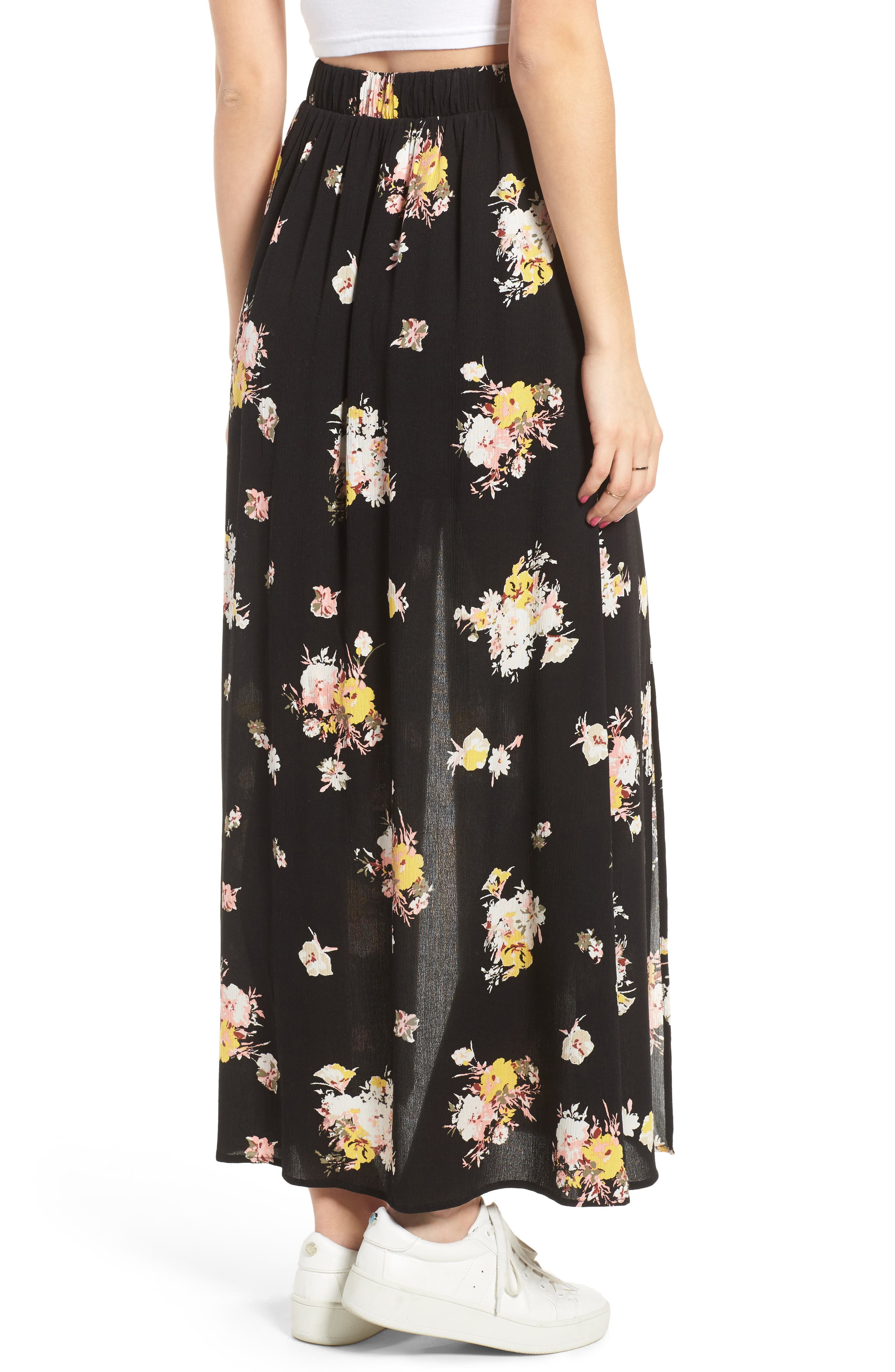 Alternate Image 3  - Love, Fire Coordinating Floral Maxi Skirt