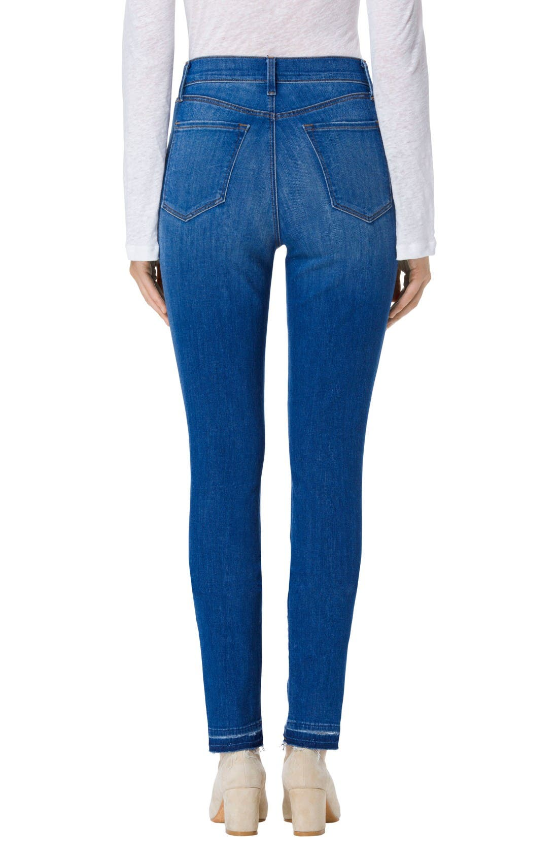 Alternate Image 2  - J Brand Maria High Waist Skinny Jeans (Angelic)
