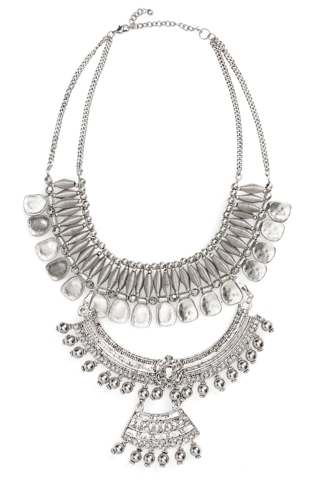 Alternate Image 1 Selected - Panacea Triple Layer Statement Necklace
