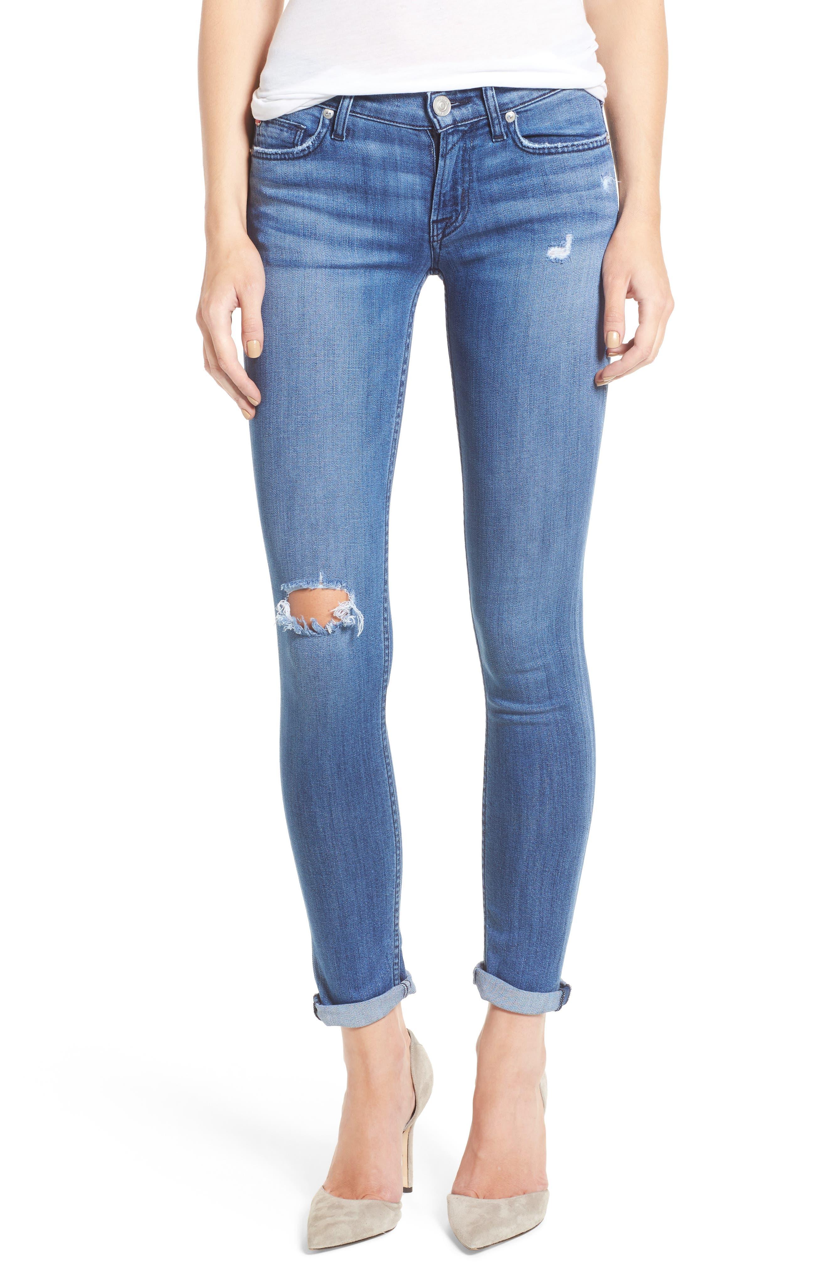 Main Image - Hudson Tally Crop Skinny Jeans (Encounter)