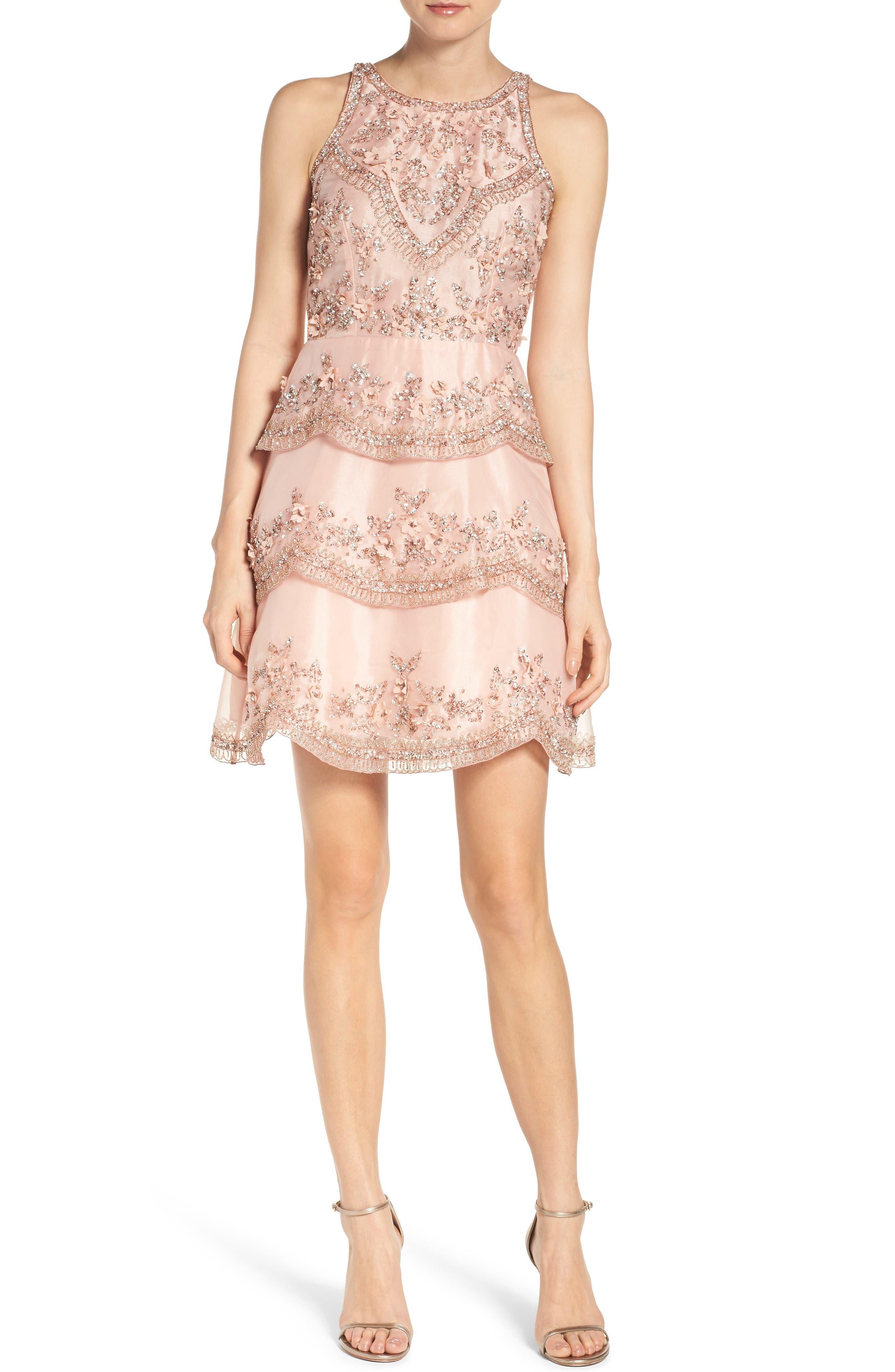 Alternate Image 4  - Adrianna Papell Scallop Dress