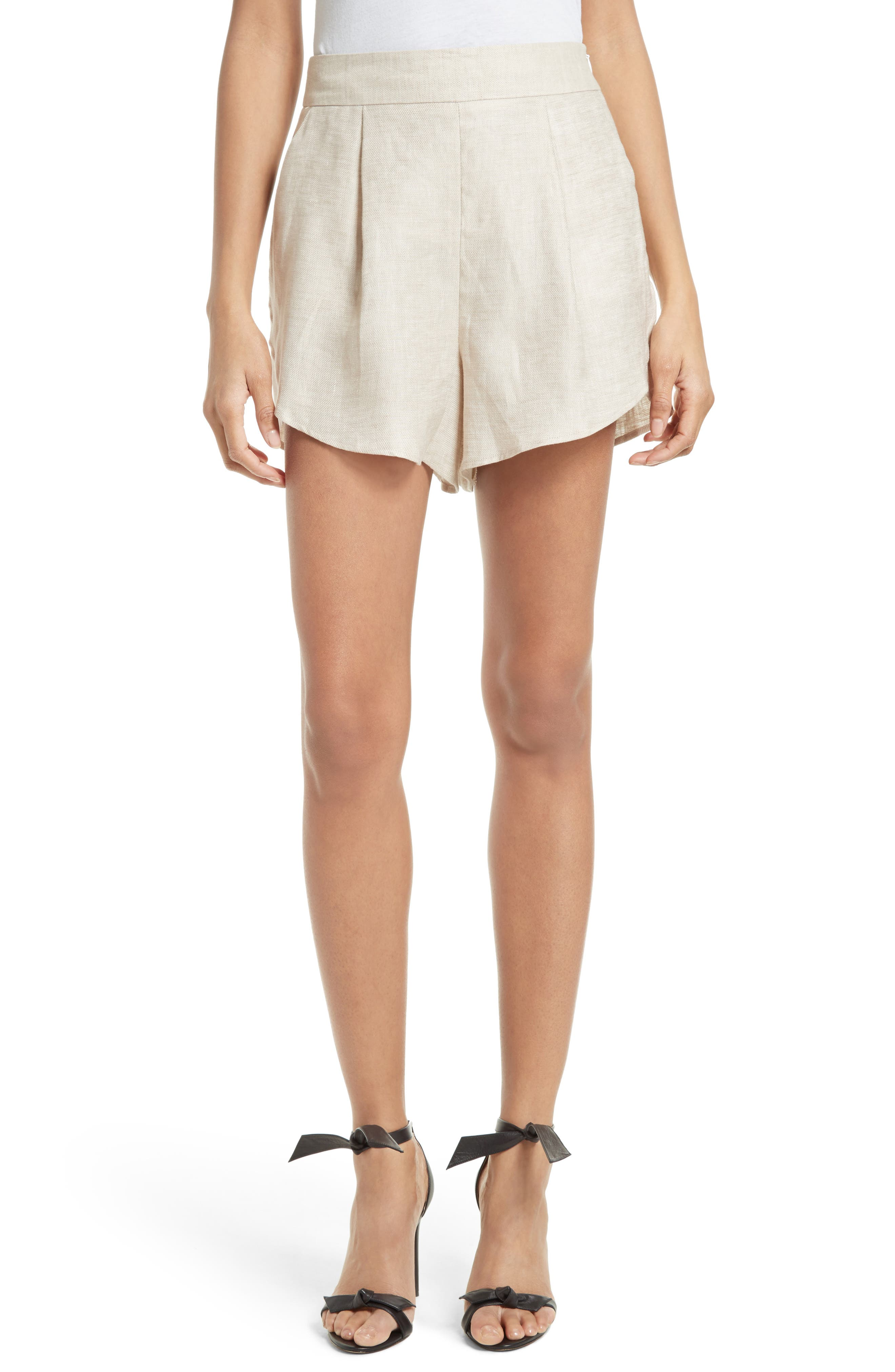 Milly Linen Blend Petal Shorts