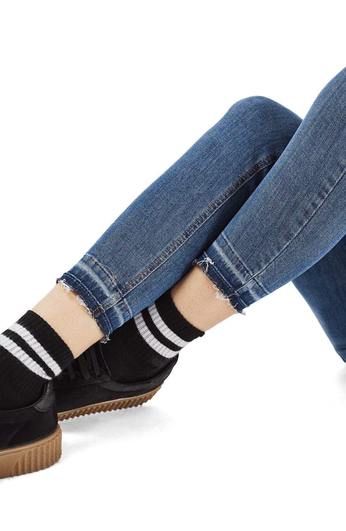 Alternate Image 5  - Topshop Jamie Crop Skinny Jeans (Tall)