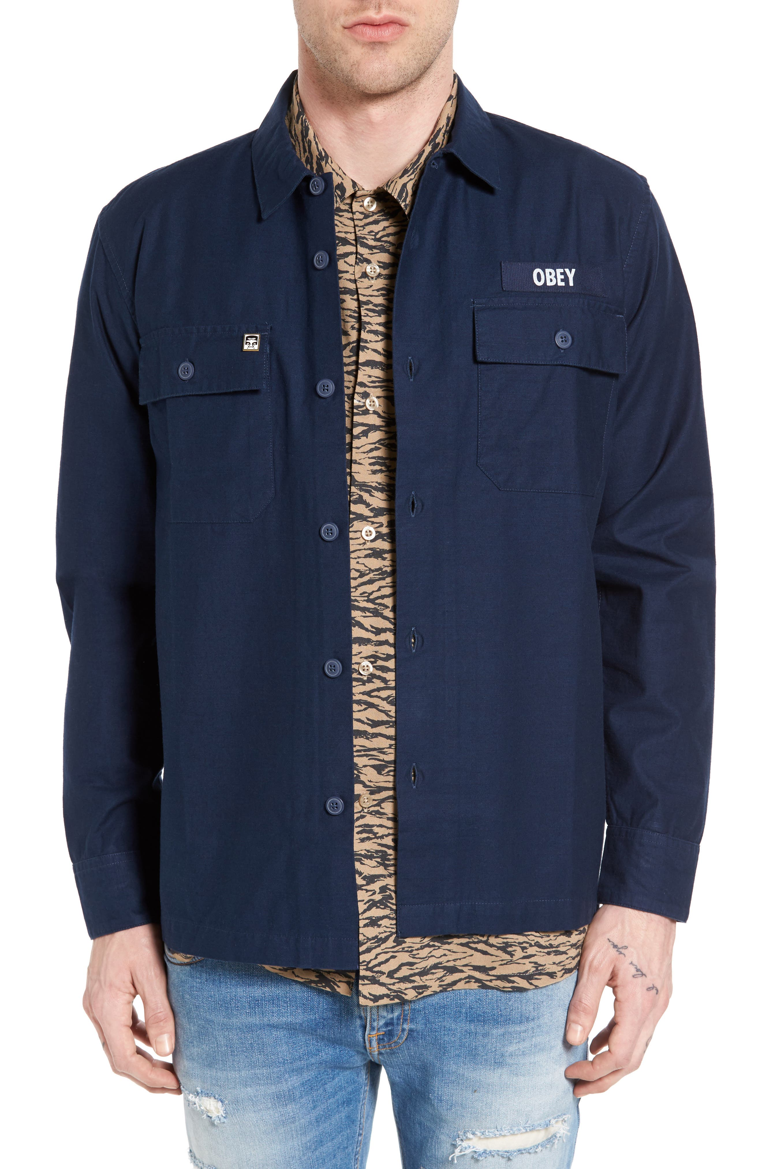OBEY Mission Military Shirt Jacket