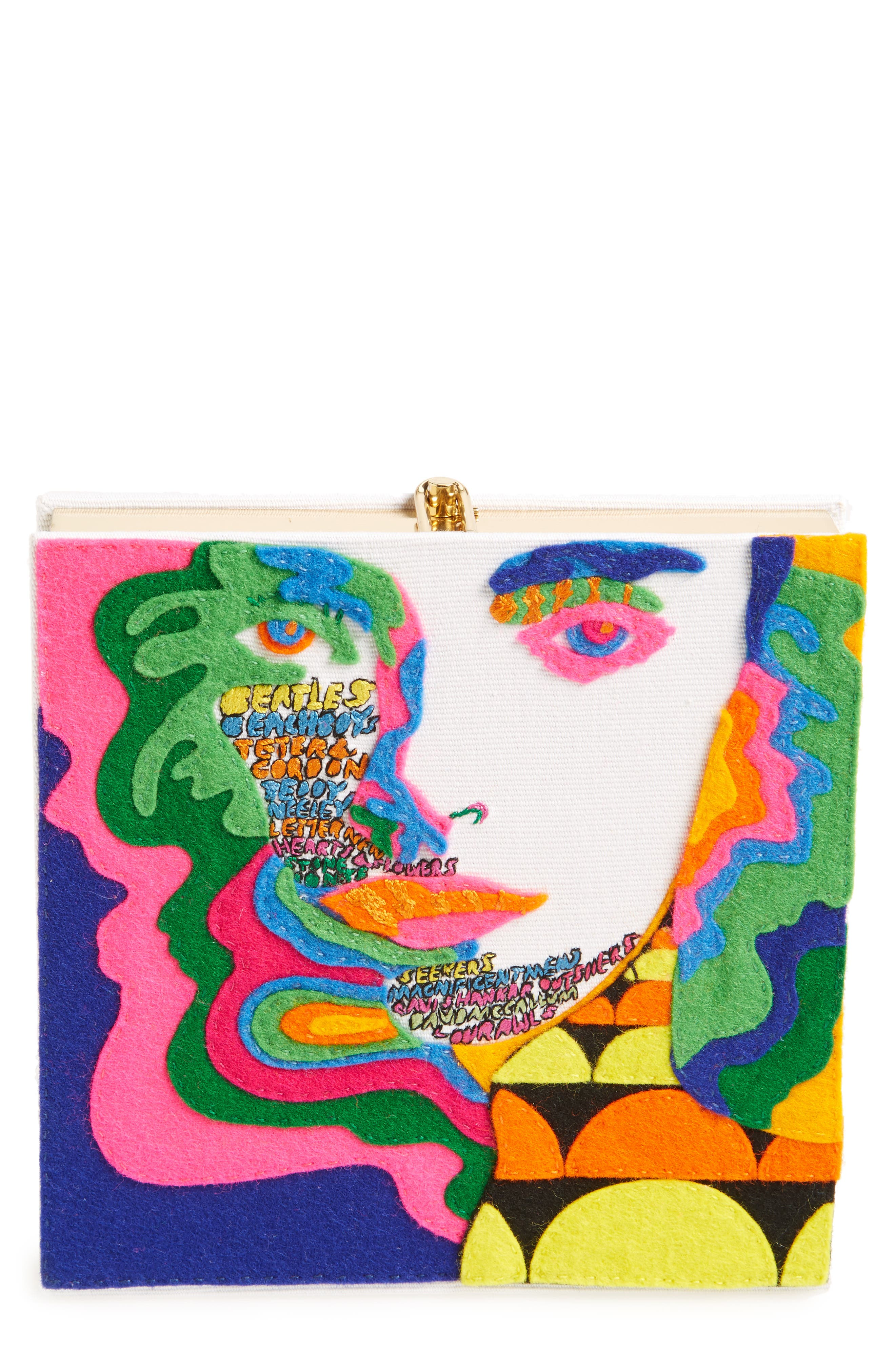 Olympia Le-Tan Square Face Book Clutch (Limited Edition)