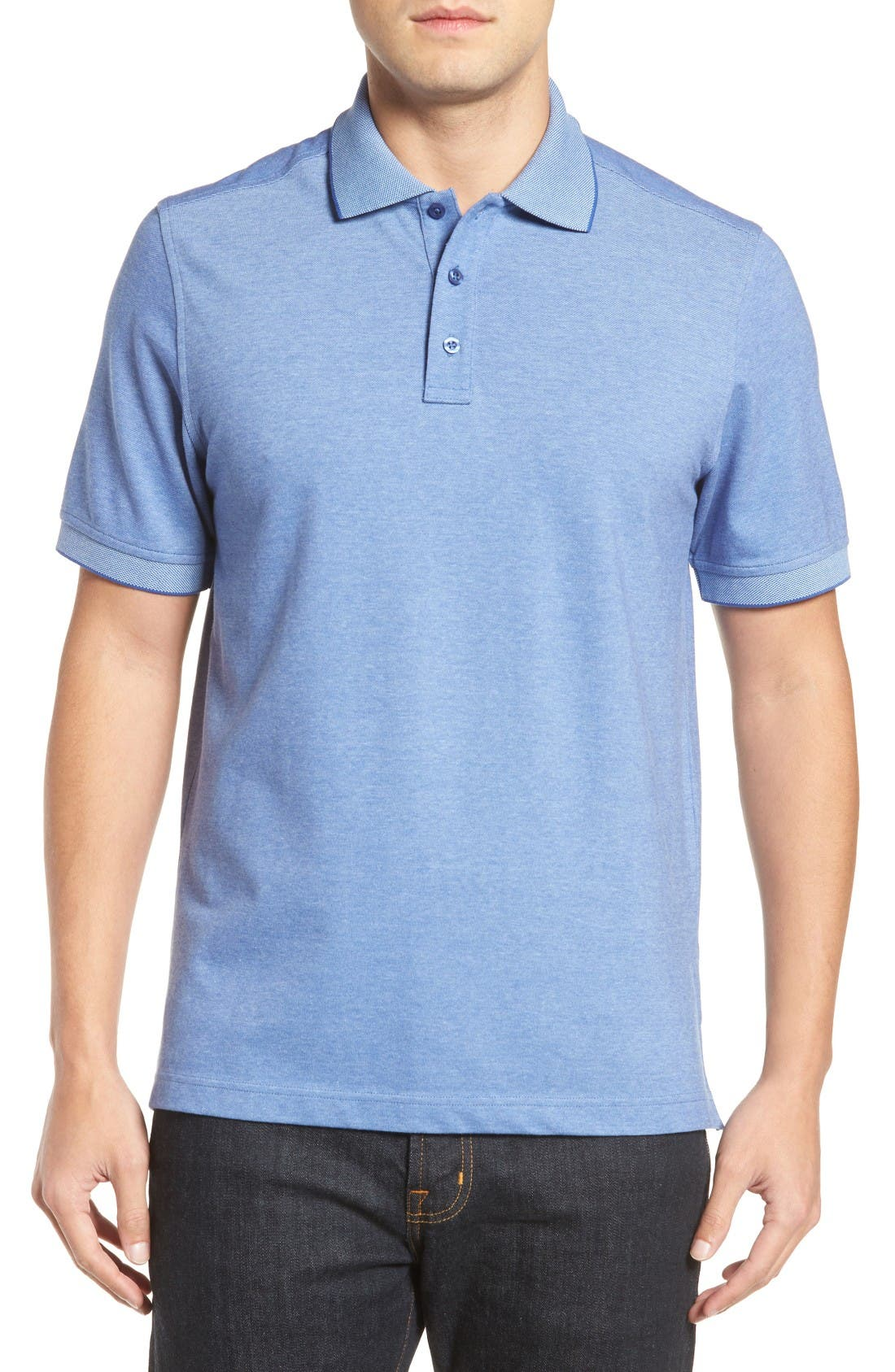Nordstrom Men's Shop Classic Regular Fit Oxford Piqué Polo