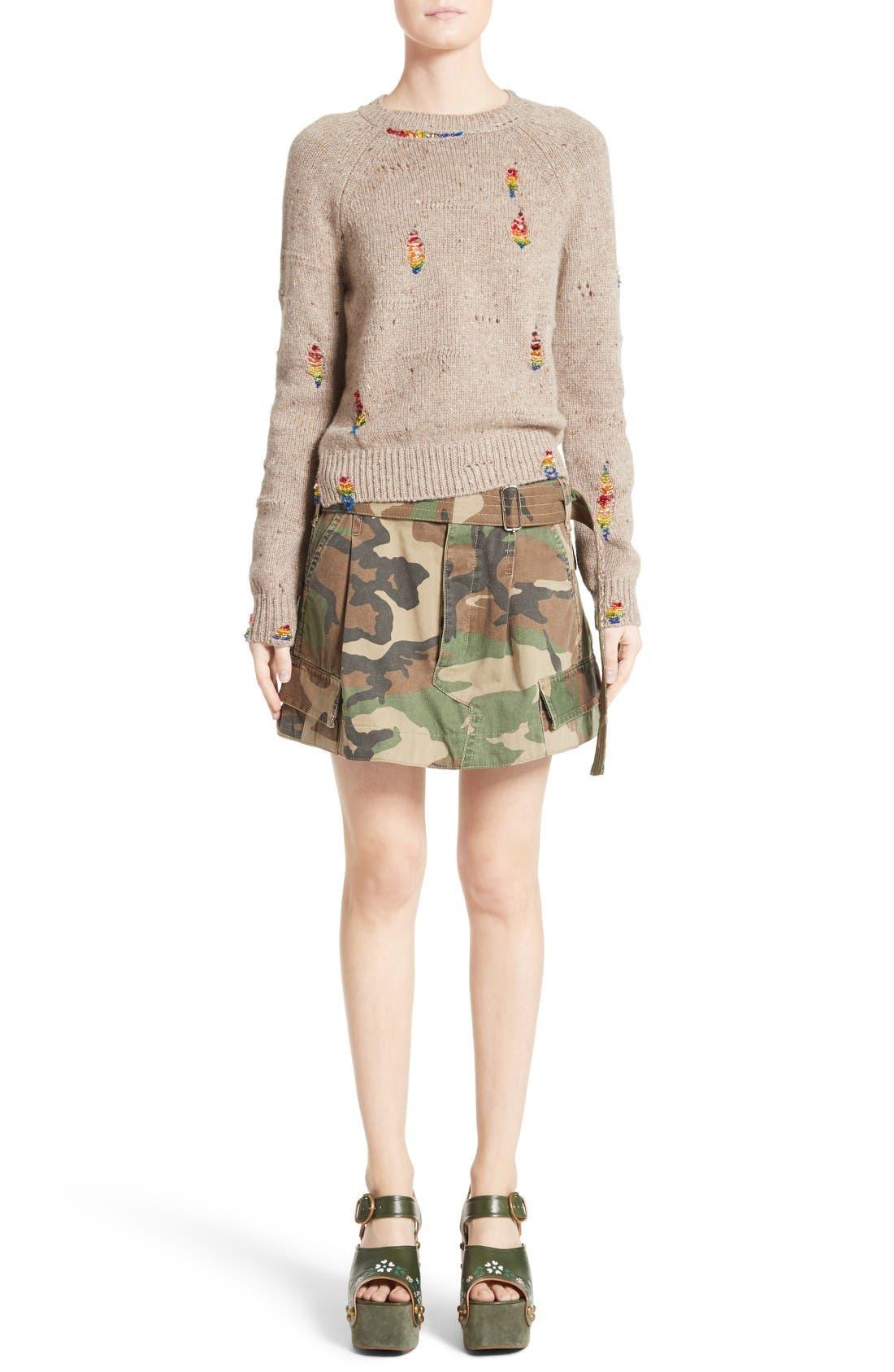 Alternate Image 9  - MARC JACOBS Camo Print Cargo Miniskirt