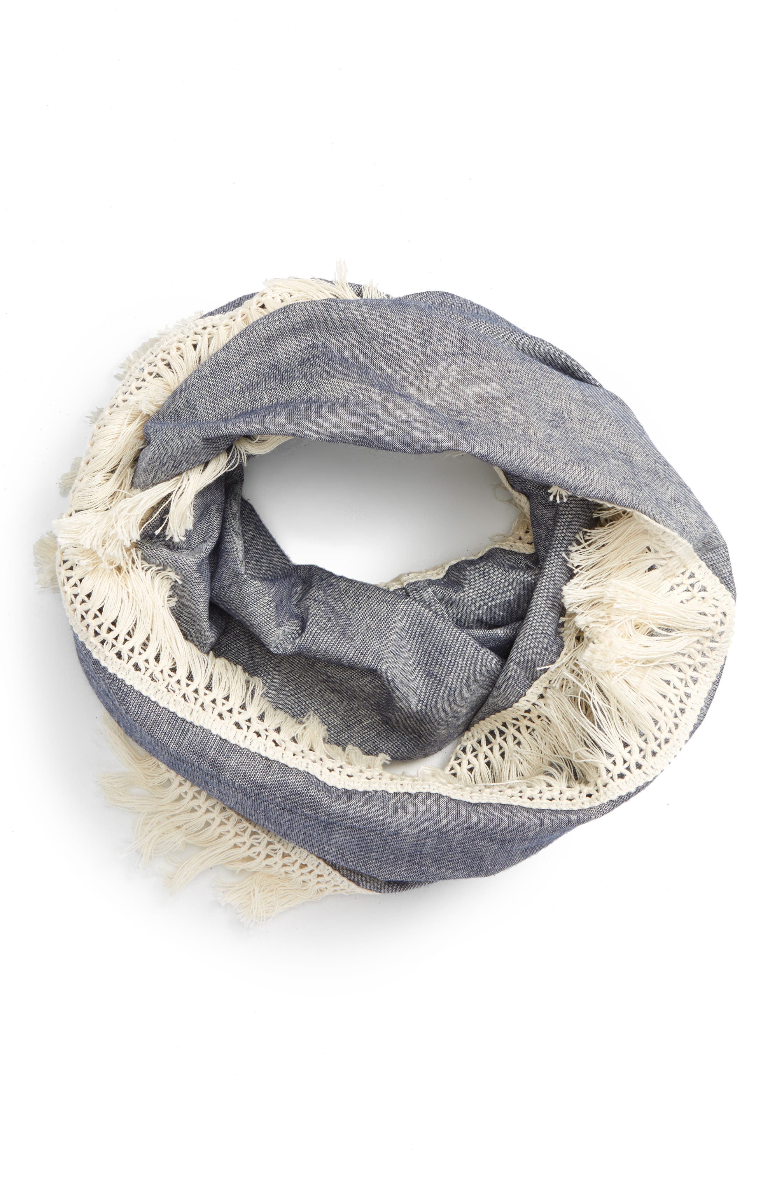 THE ACCESSORY COLLECTIVE Chambray Infinity Scarf