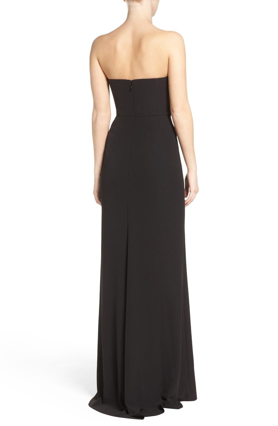 Alternate Image 2  - Halston Heritage High Slit Gown