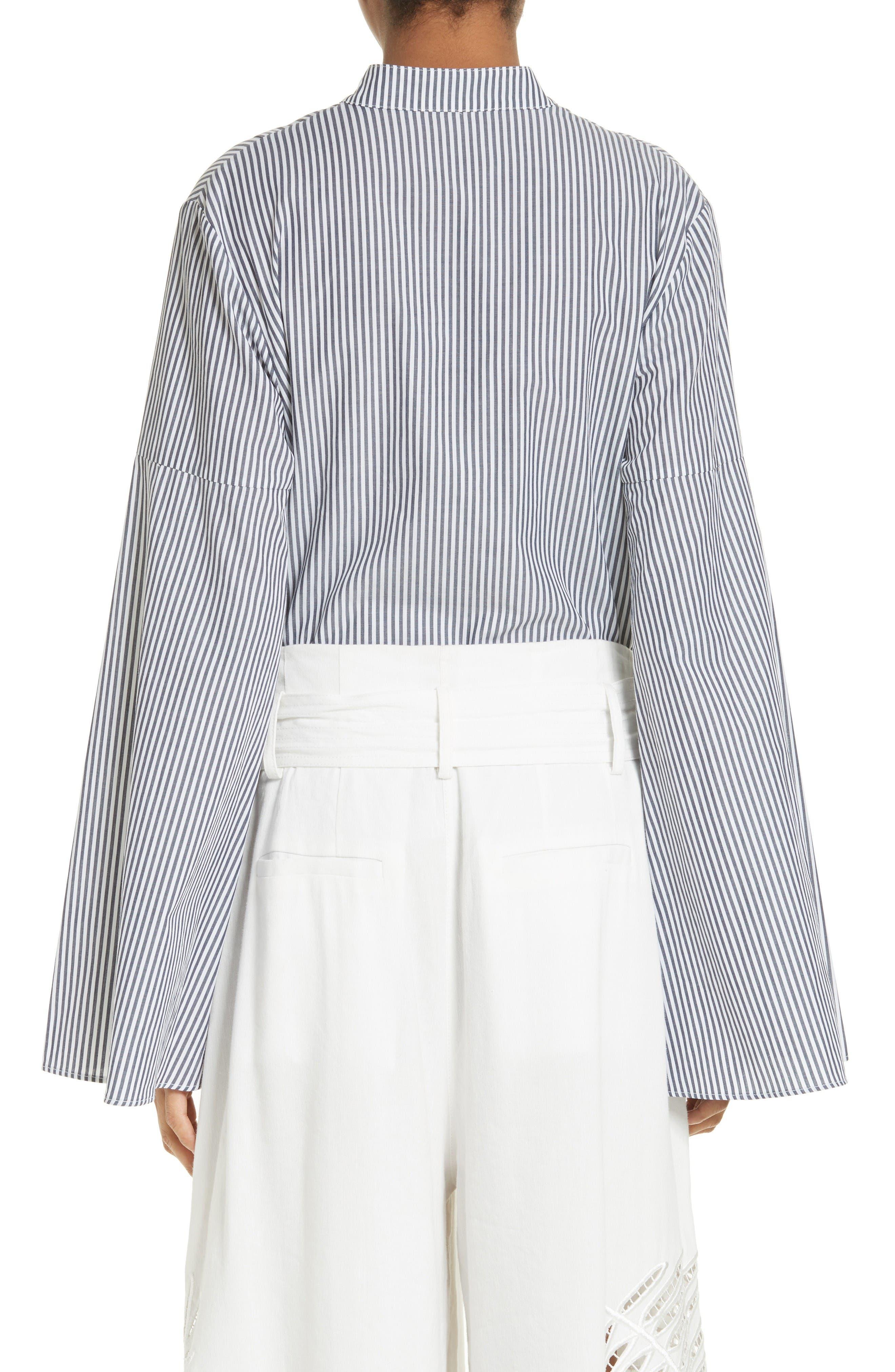 Alternate Image 2  - Tanya Taylor Klara Stripe Bell Sleeve Top