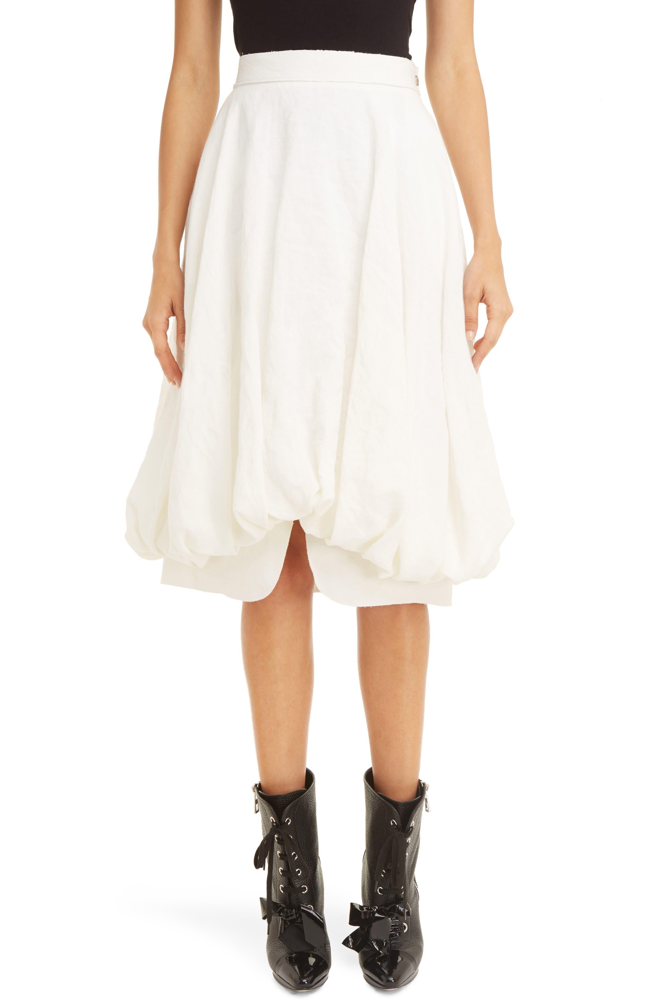 LOEWE Linen Balloon Skirt