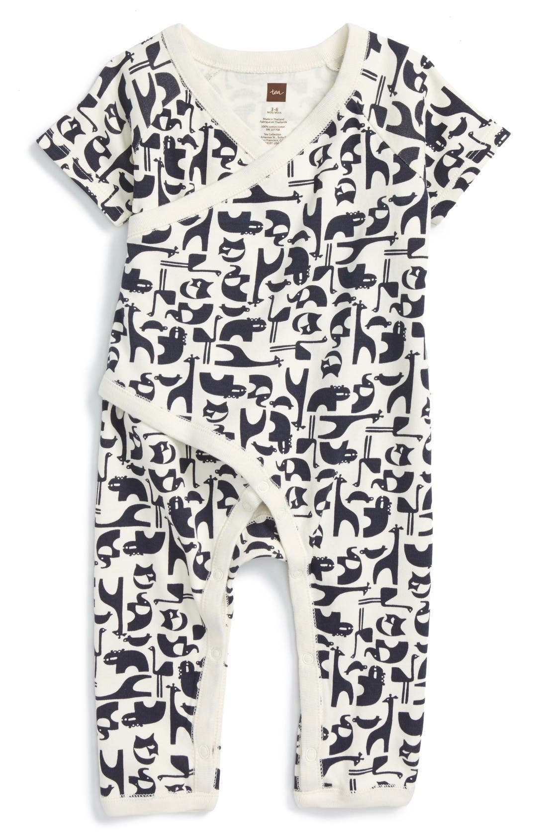 Alternate Image 1 Selected - Tea Collection Born Free Wrap Romper (Baby)