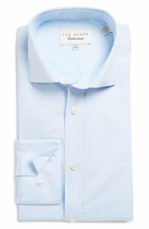 Ted Baker London Blink Trim Fit Check Dress Shirt