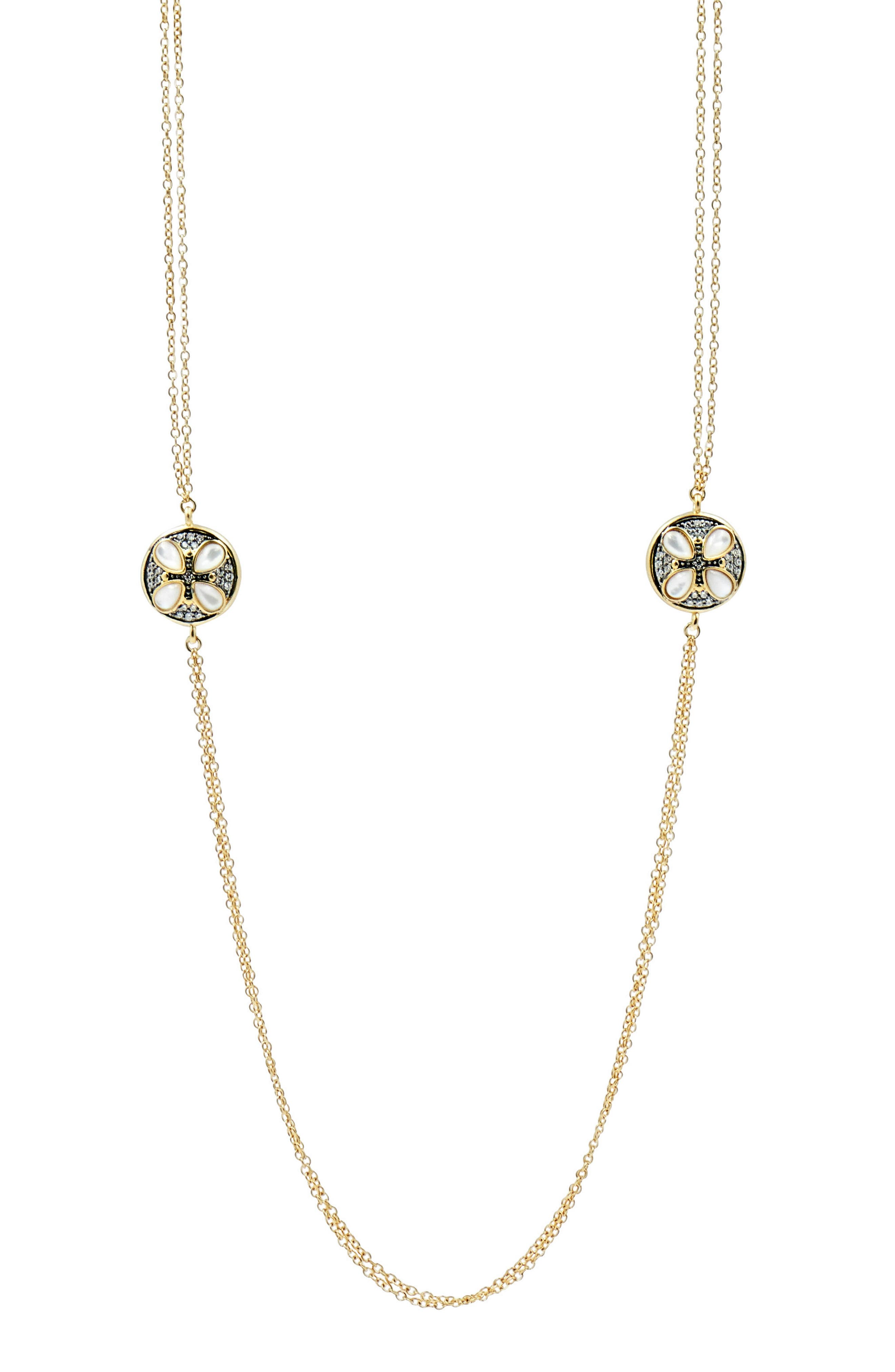 FREIDA ROTHMAN Fleur Bloom Deux Petal Necklace