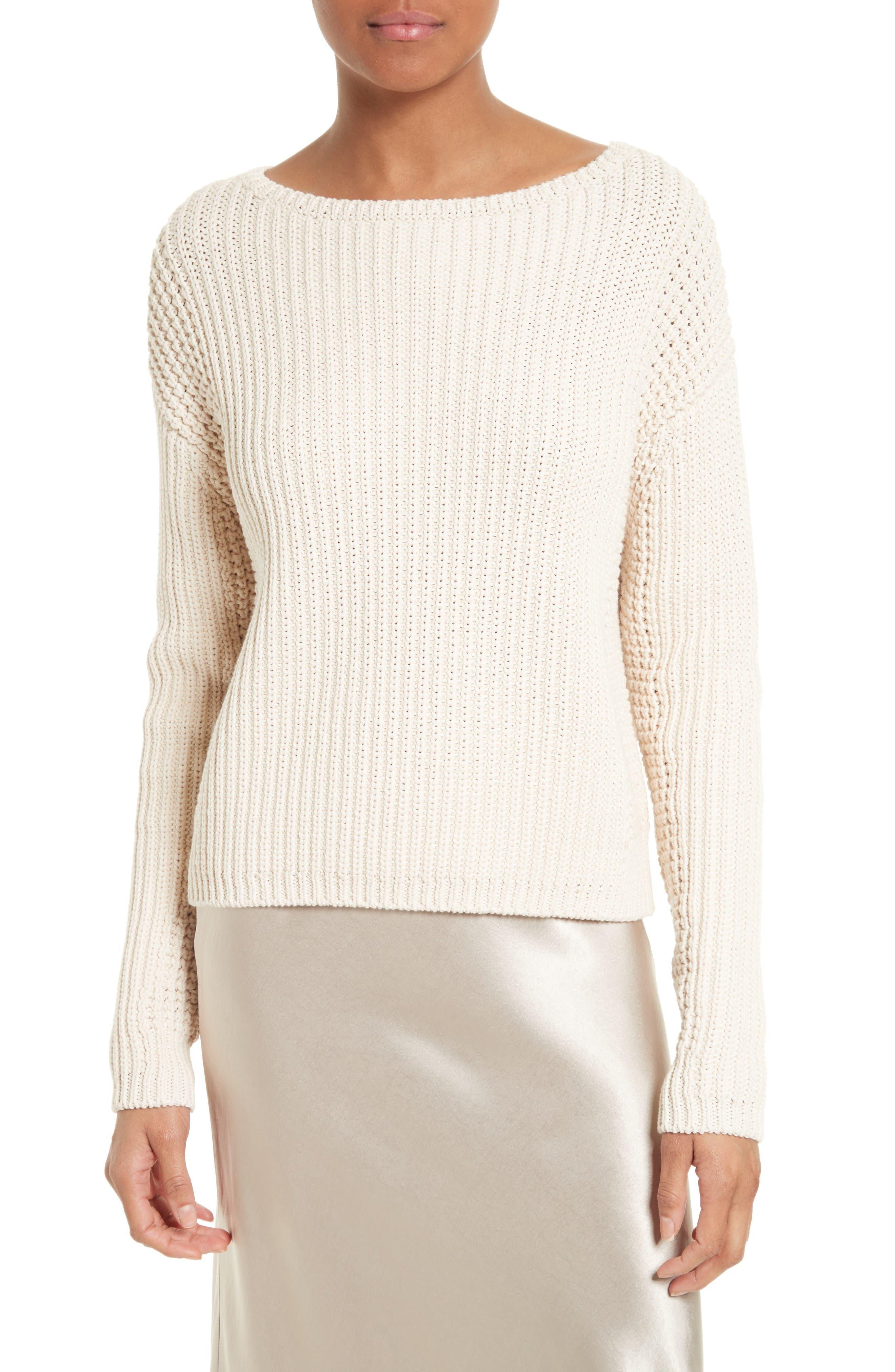 Vince Waffle Stitch Cotton Sweater