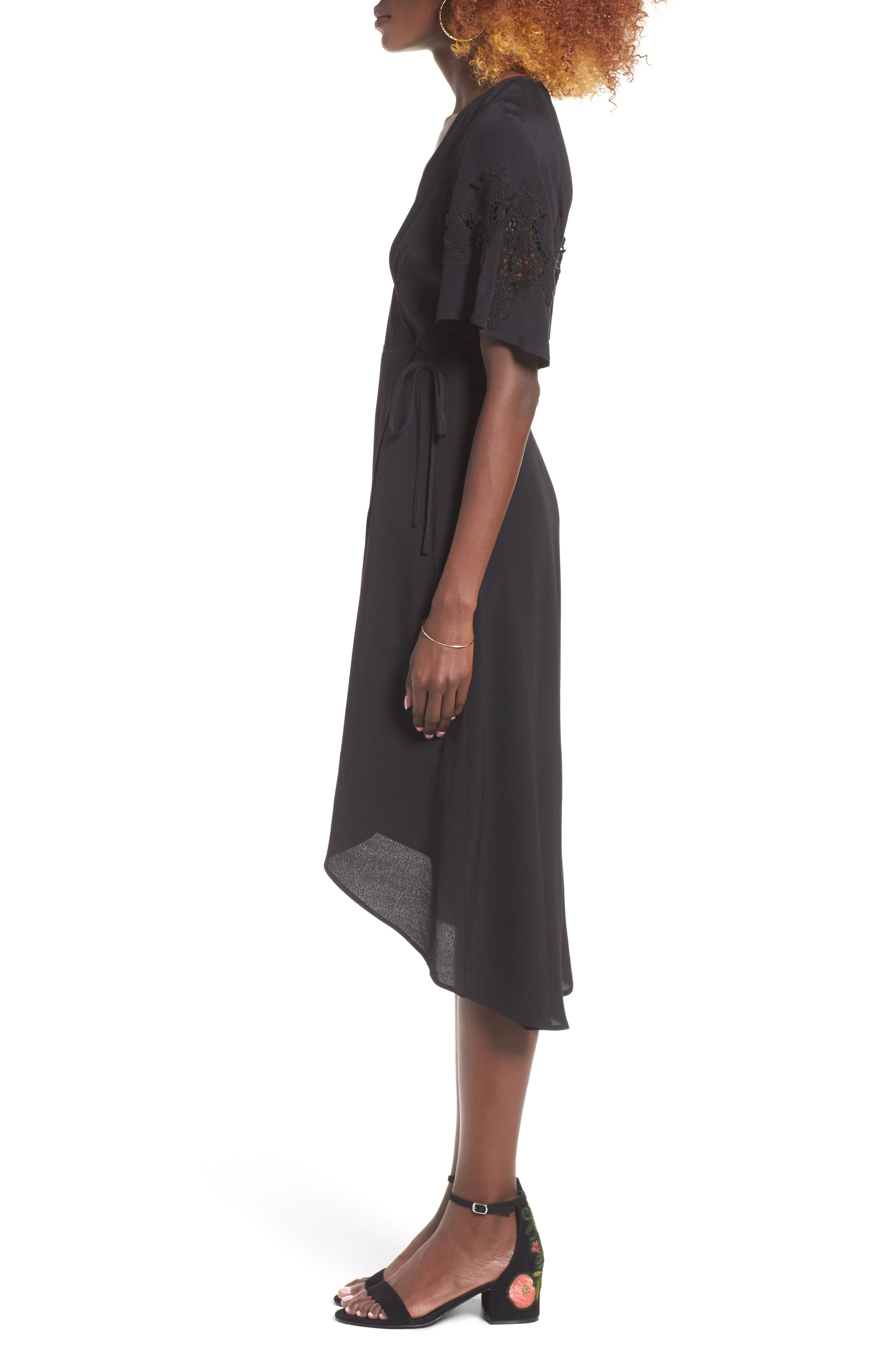 Alternate Image 3  - ASTR the Label Crochet Sleeve Wrap Dress