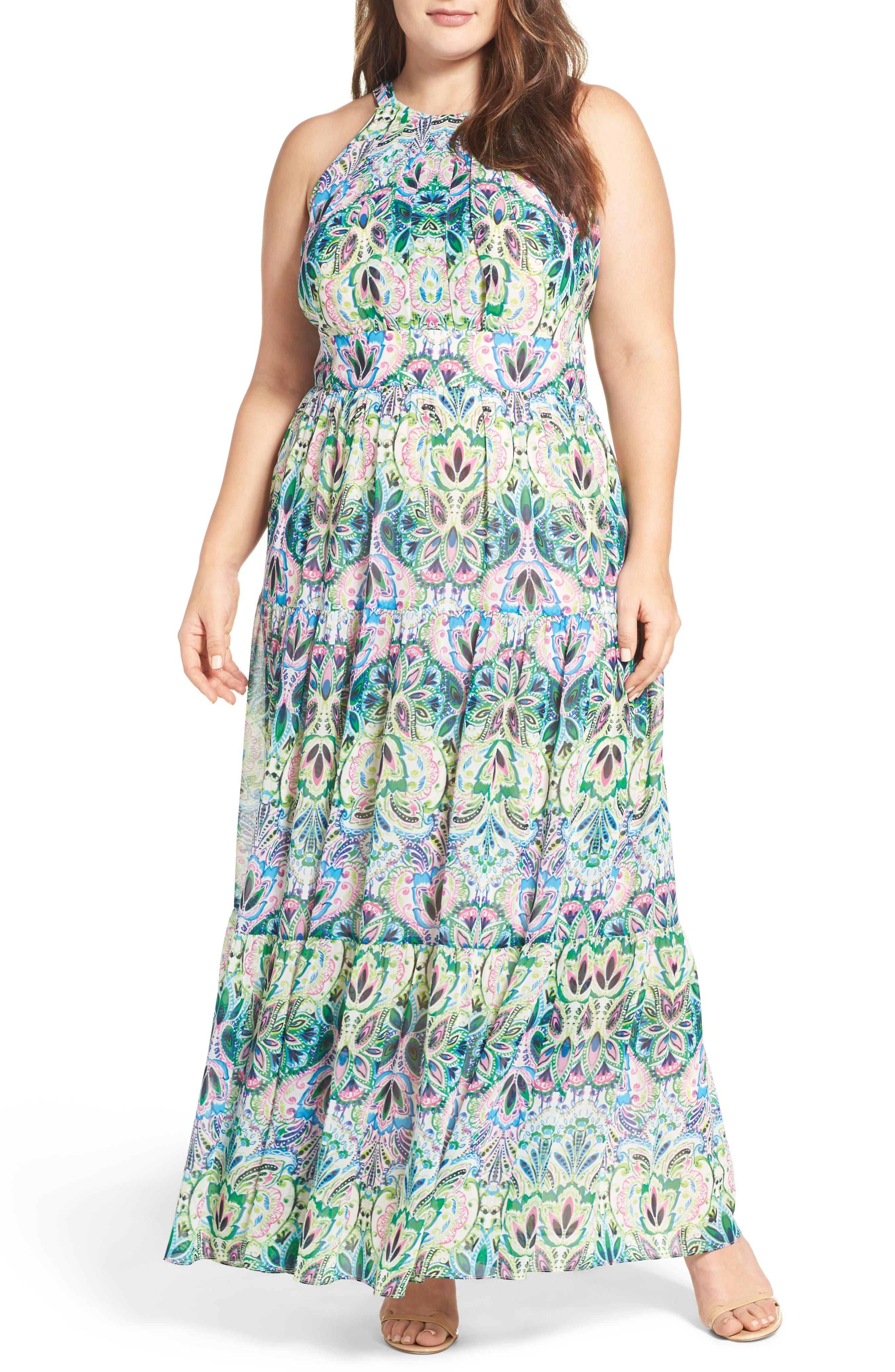 Eliza J Halter Maxi Dress Plus Size Nordstrom