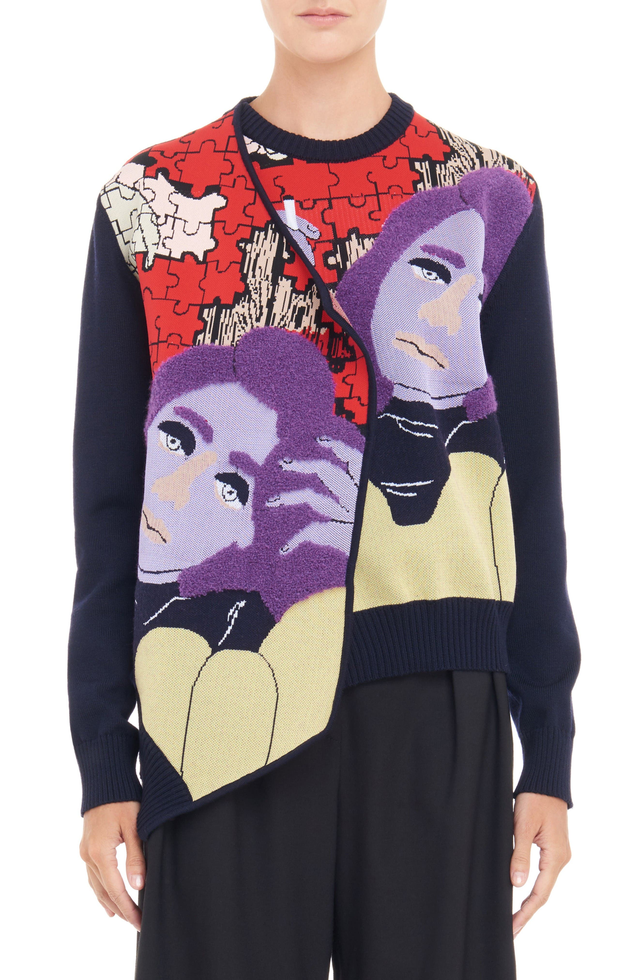 J.W.ANDERSON Graphic Puzzle Knit Cardigan