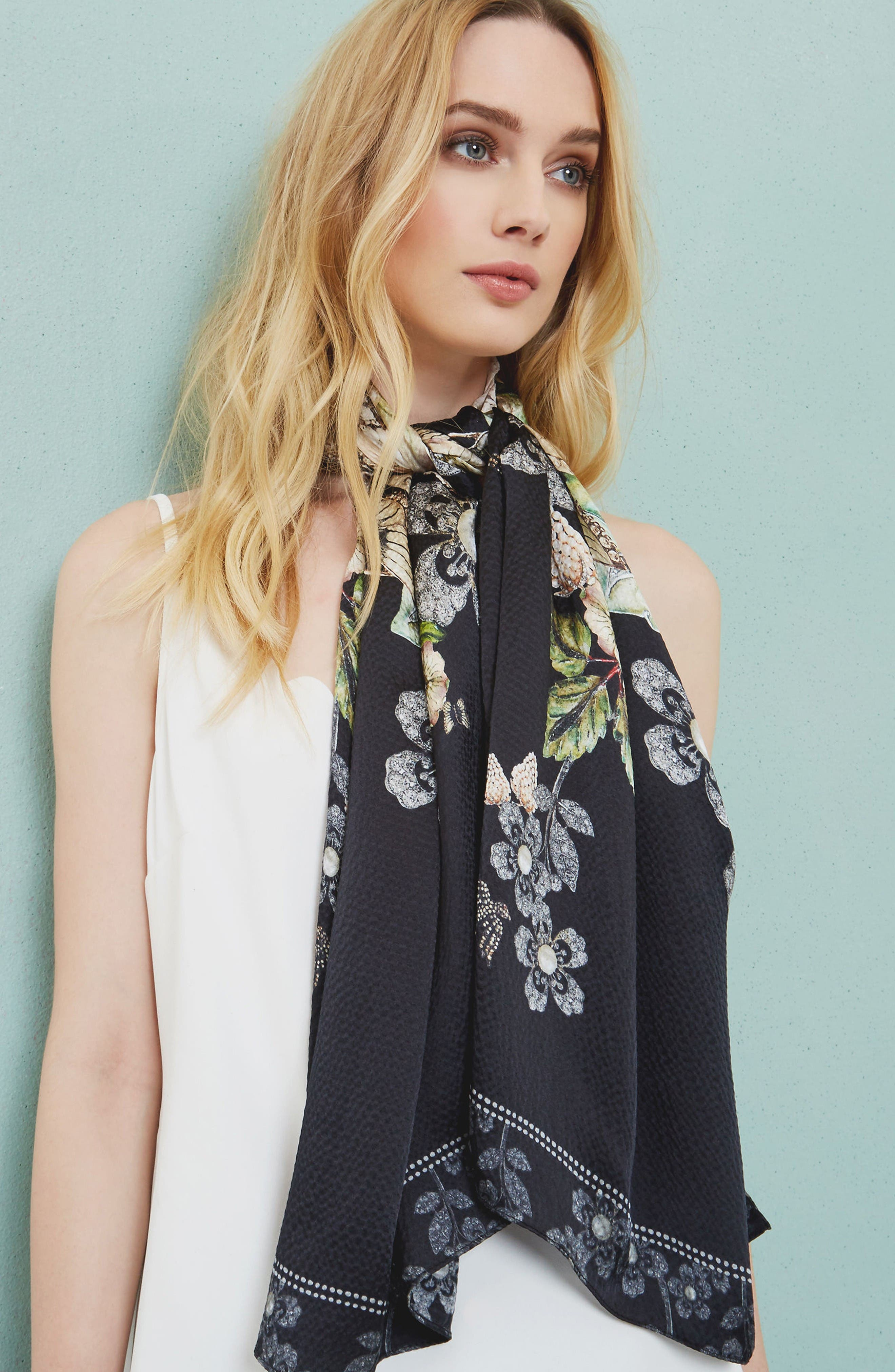 Alternate Image 5  - Ted Baker London Gem Gardens Cape Scarf