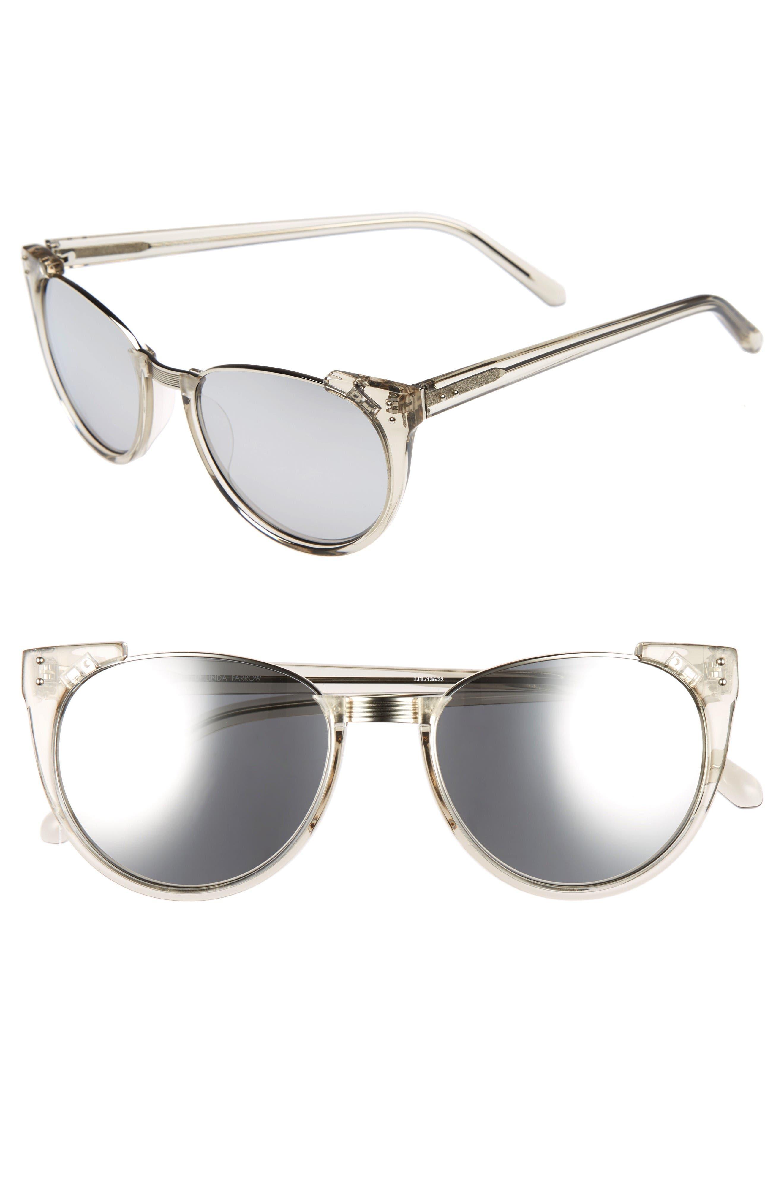 Linda Farrow 54mm Cat Eye Sunglasses