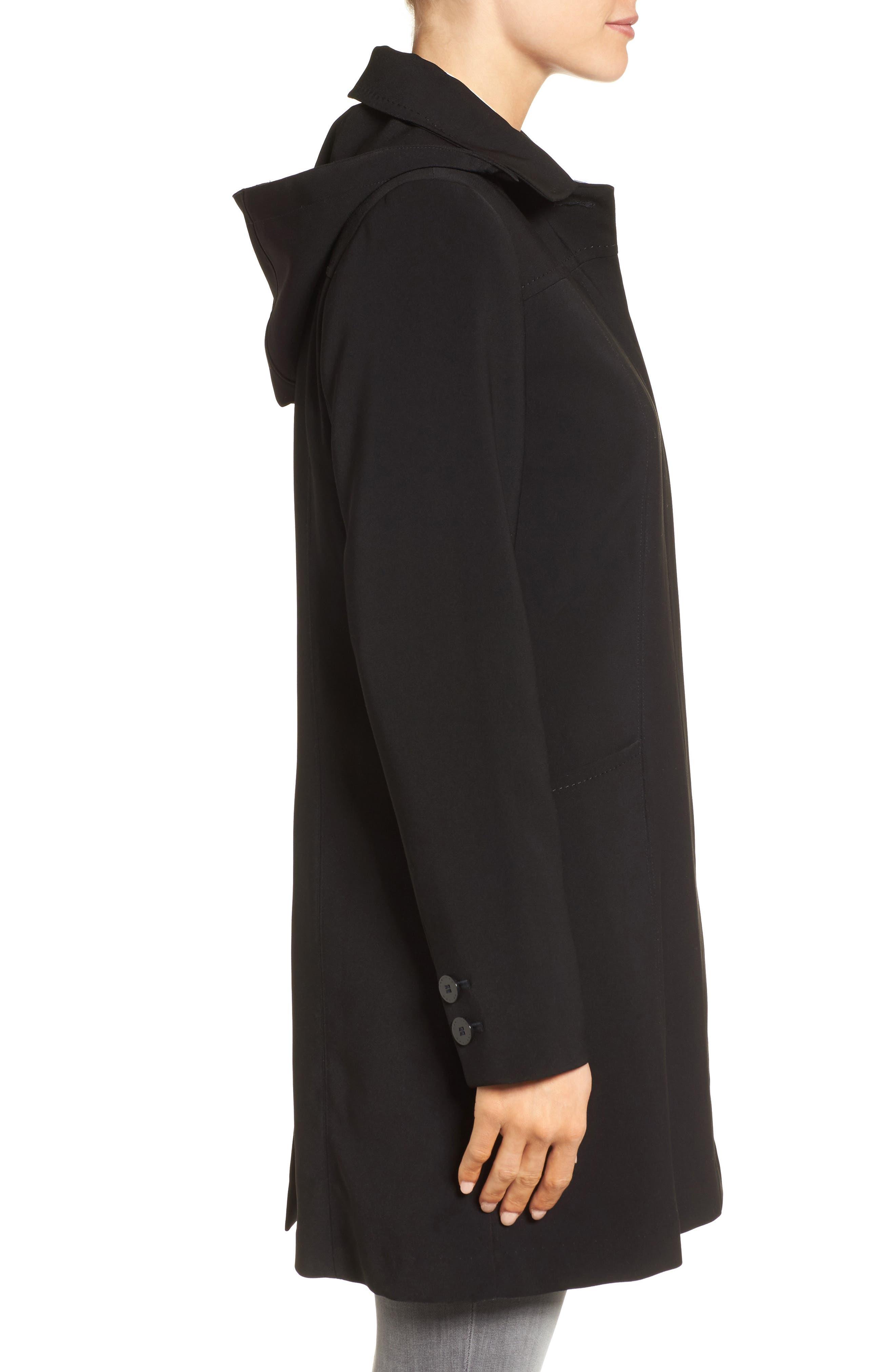 Alternate Image 3  - Gallery Pickstitch Nepage Walking Coat with Detachable Hood (Regular & Petite)