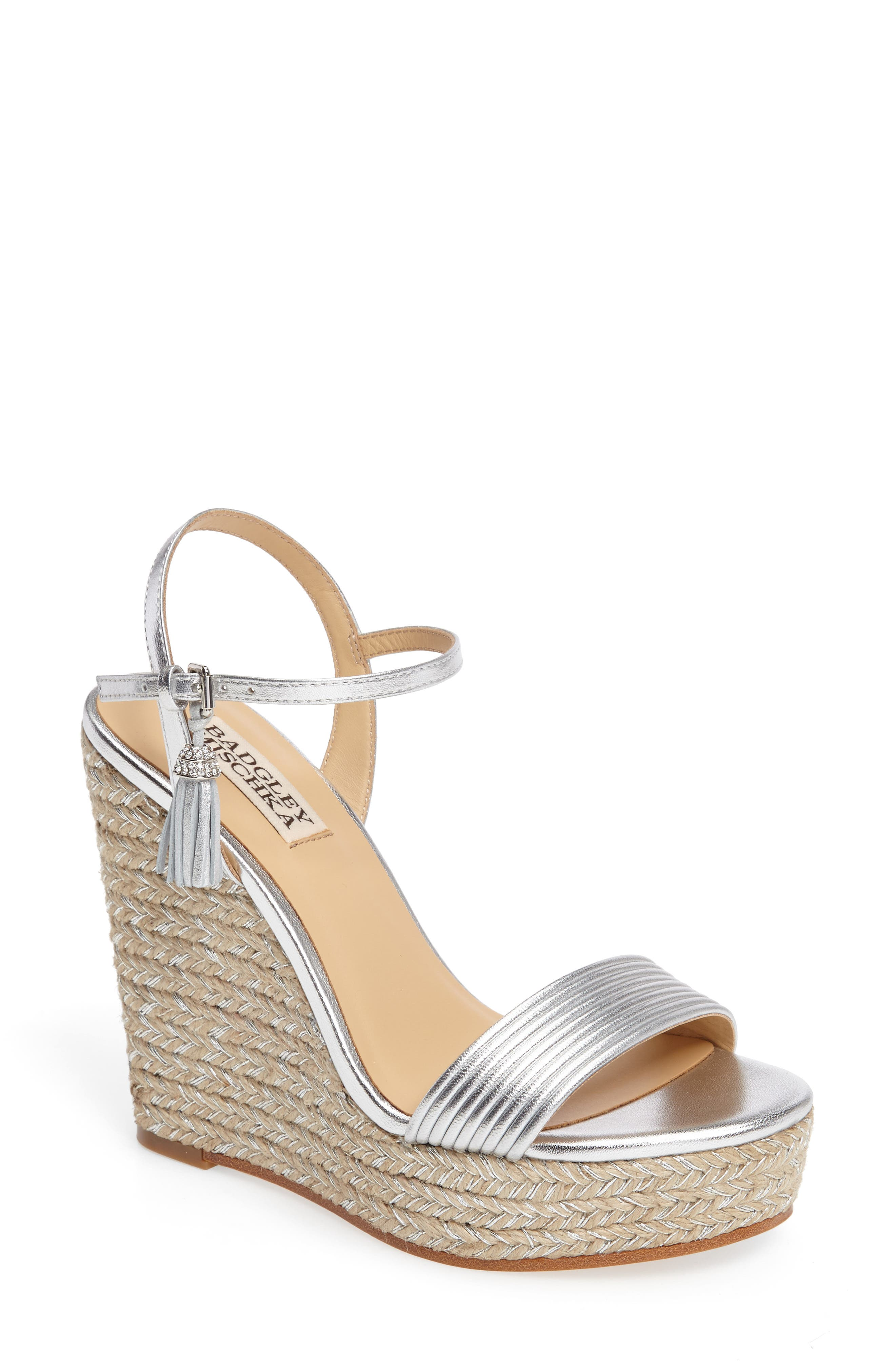 Badgley Mischka Trace Strappy Platform Wedge Sandal (Women)
