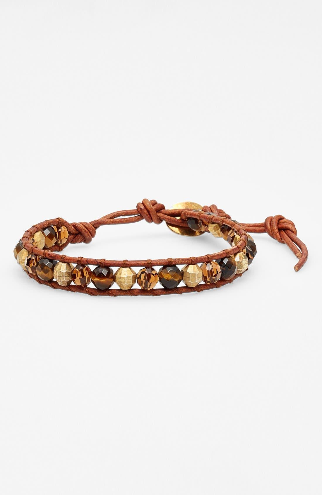 Alternate Image 1 Selected - Chan Luu Beaded Leather Bracelet