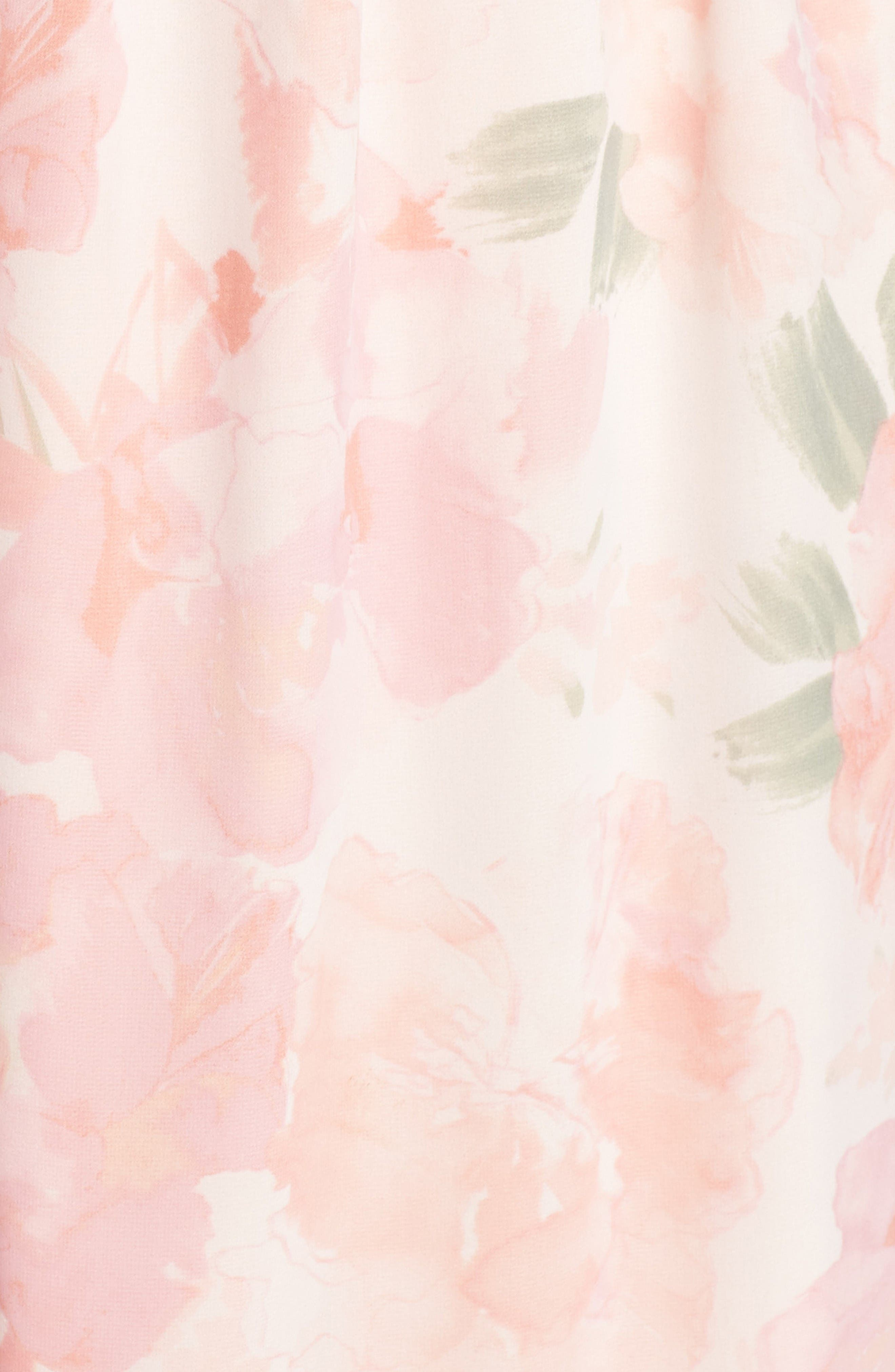 Alternate Image 5  - Plum Pretty Sugar Floral Strapless Gown