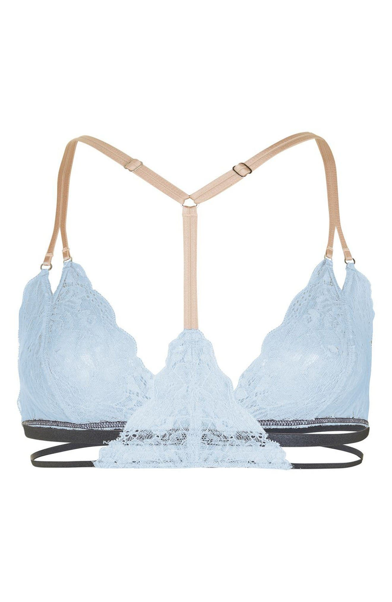 Alternate Image 2  - Topshop Strappy Lace Triangle Bralette