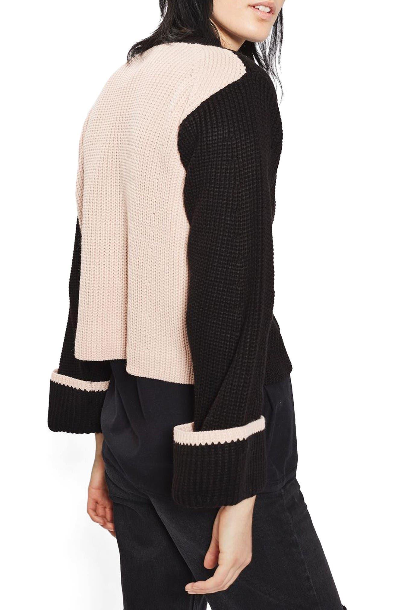 Alternate Image 3  - Topshop Contrast Back Sweater