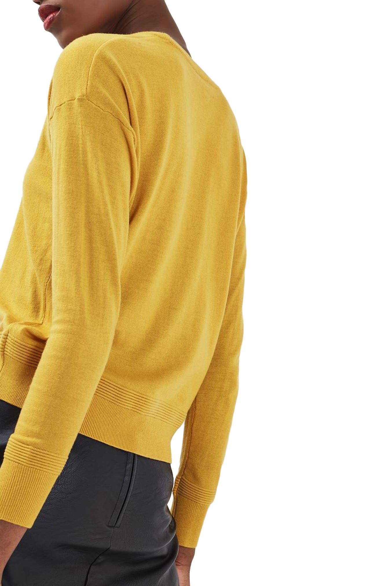 Alternate Image 3  - Topshop Ottoman Rib Border Sweater