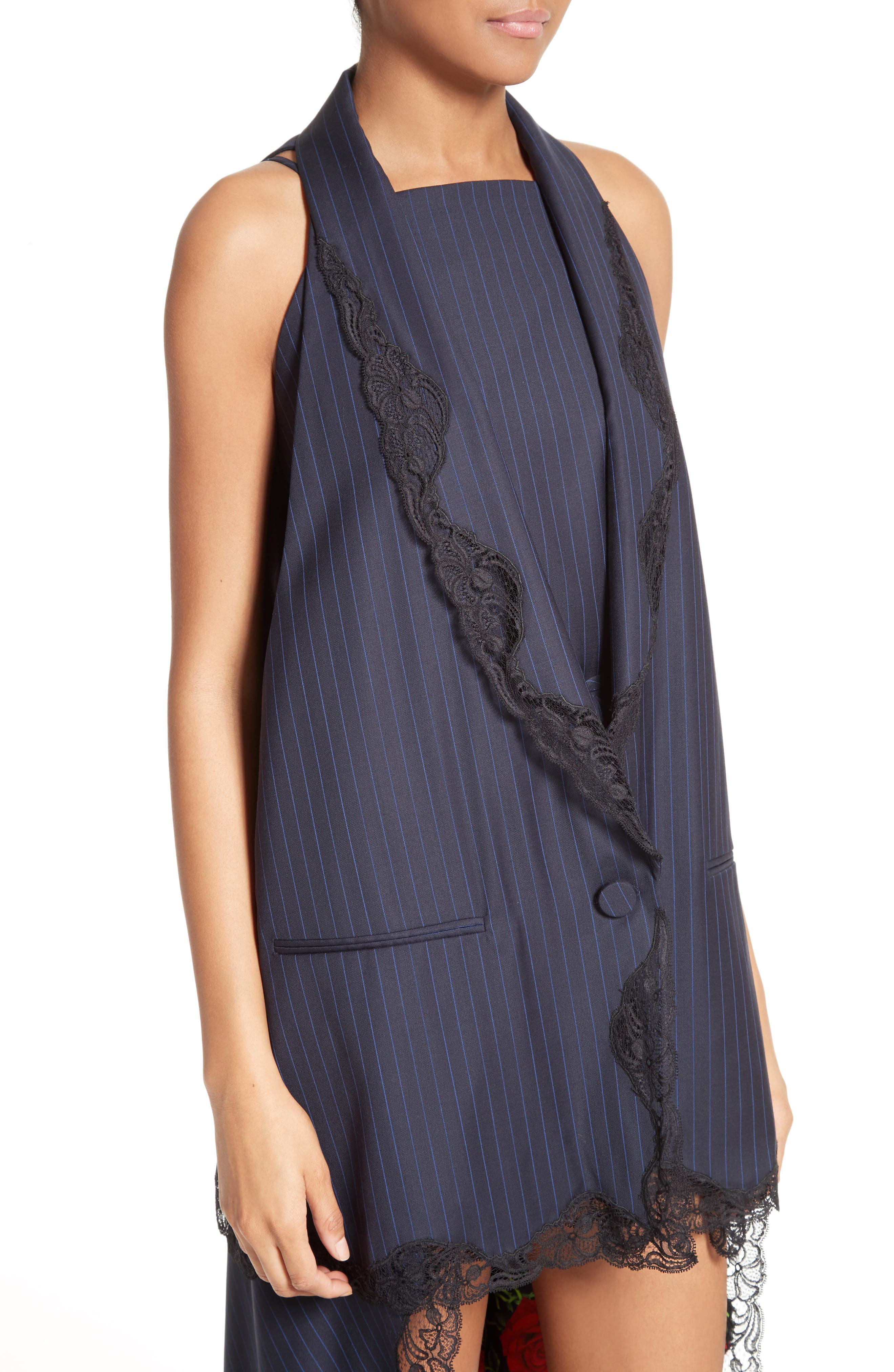 Alternate Image 6  - Alexander Wang Lace Trim Pinstripe Vest