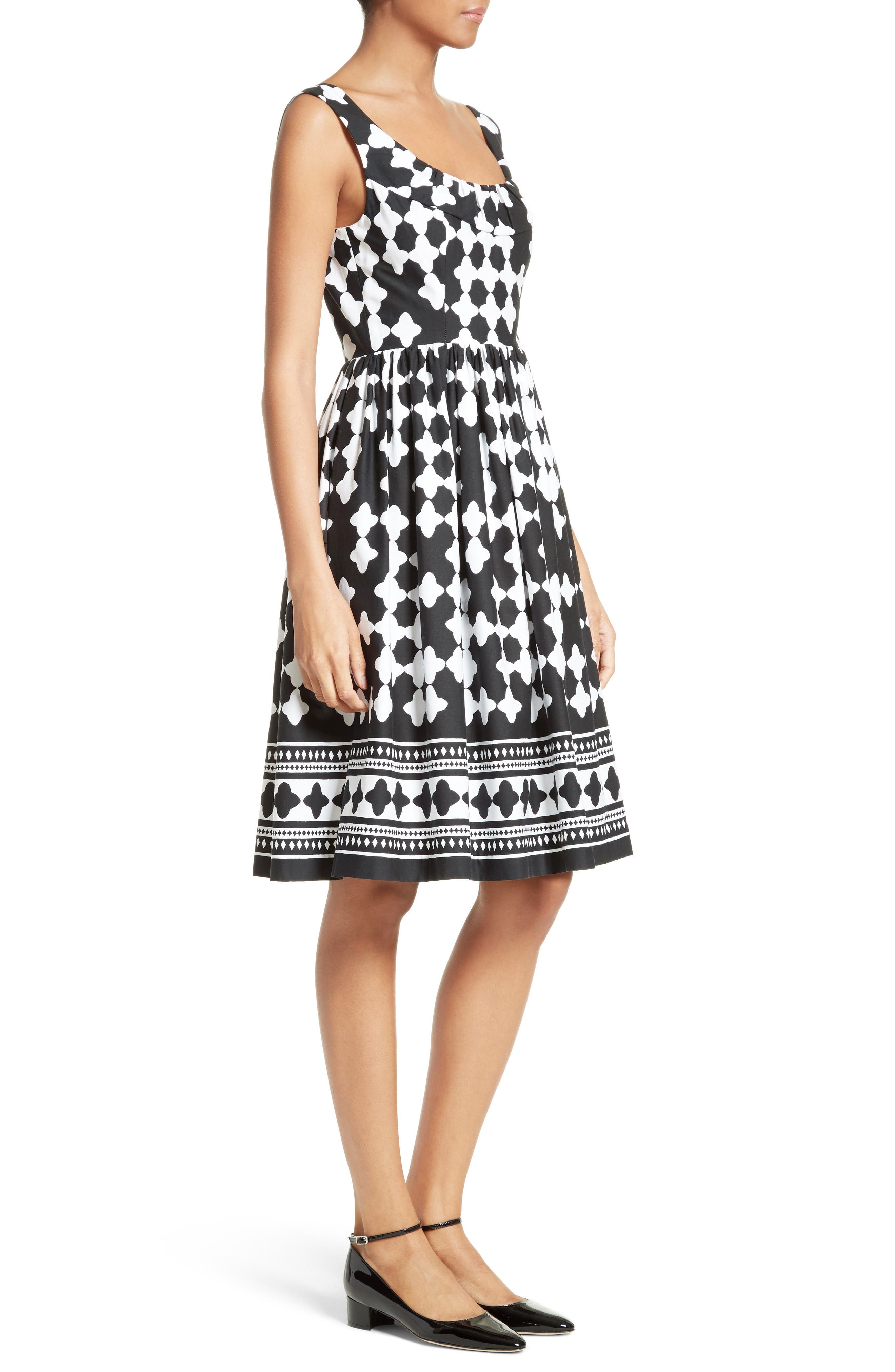 Alternate Image 3  - kate spade new york lantern print scoop neck dress