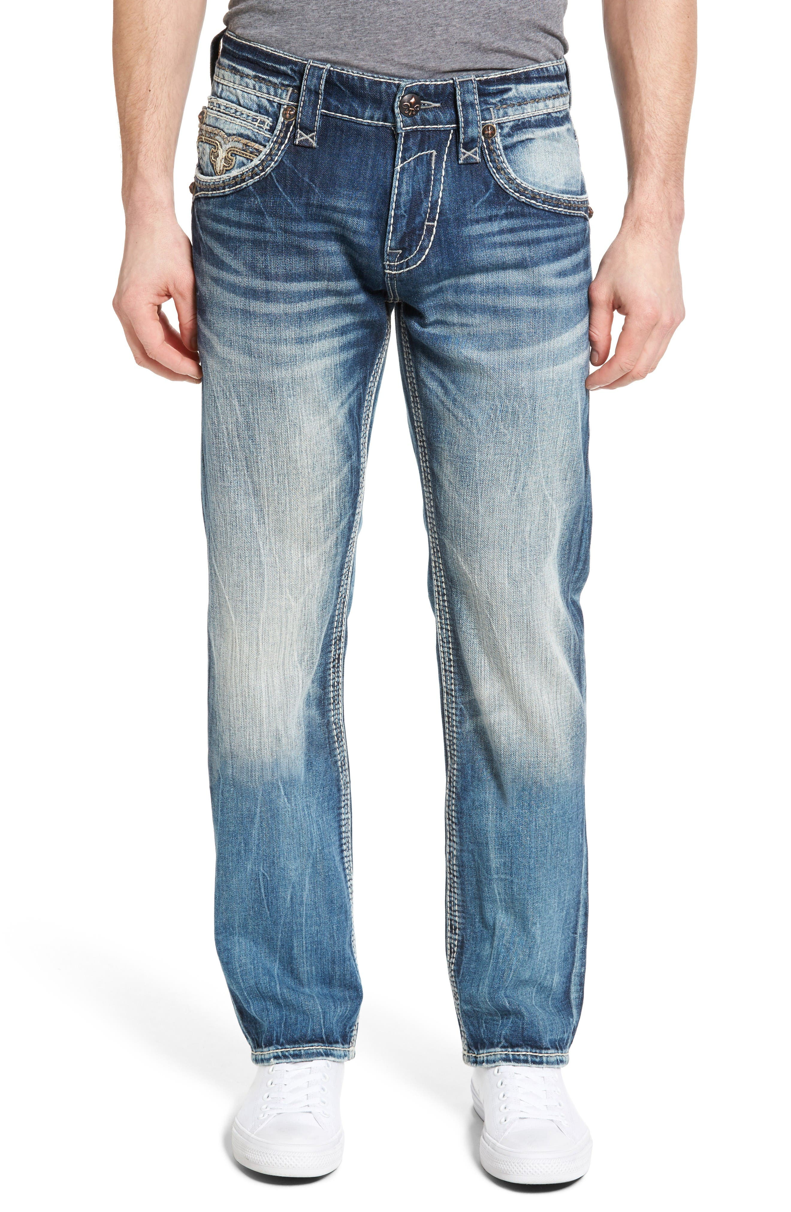 Alternate Image 1 Selected - Rock Revival Straight Leg Jeans