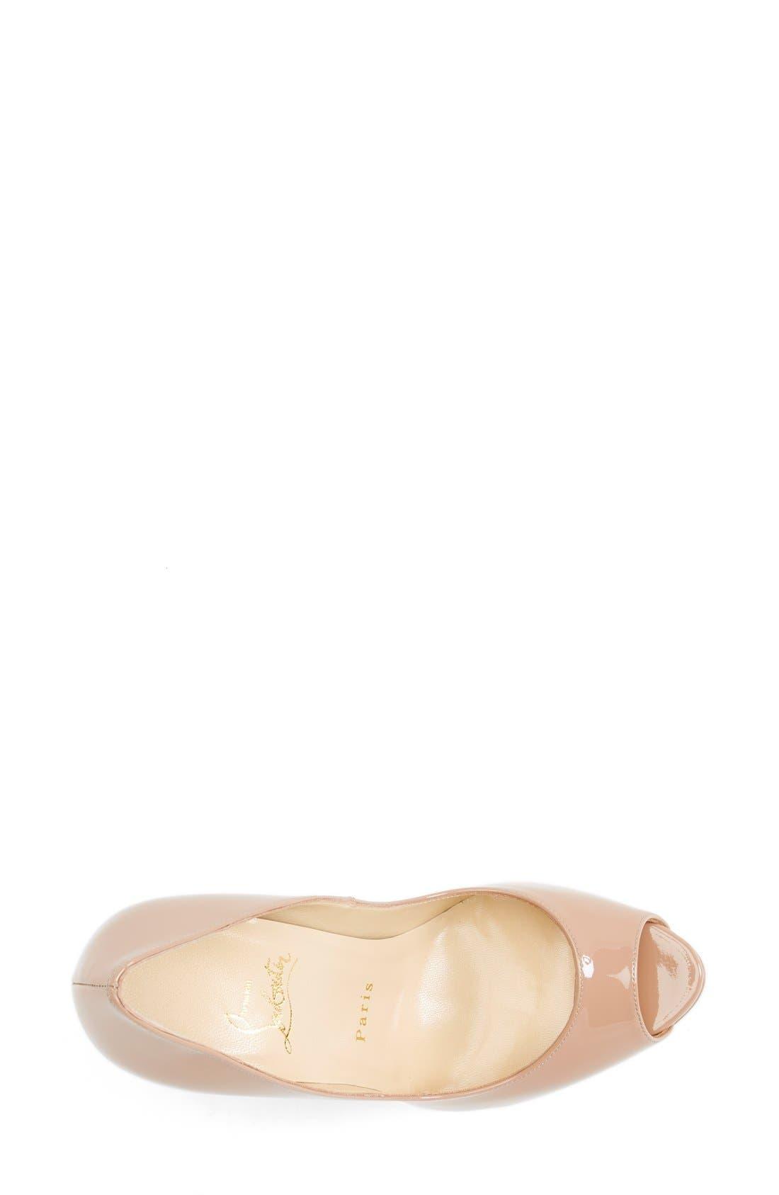 Alternate Image 3  - Christian Louboutin 'Lady Peep' Open Toe Pump