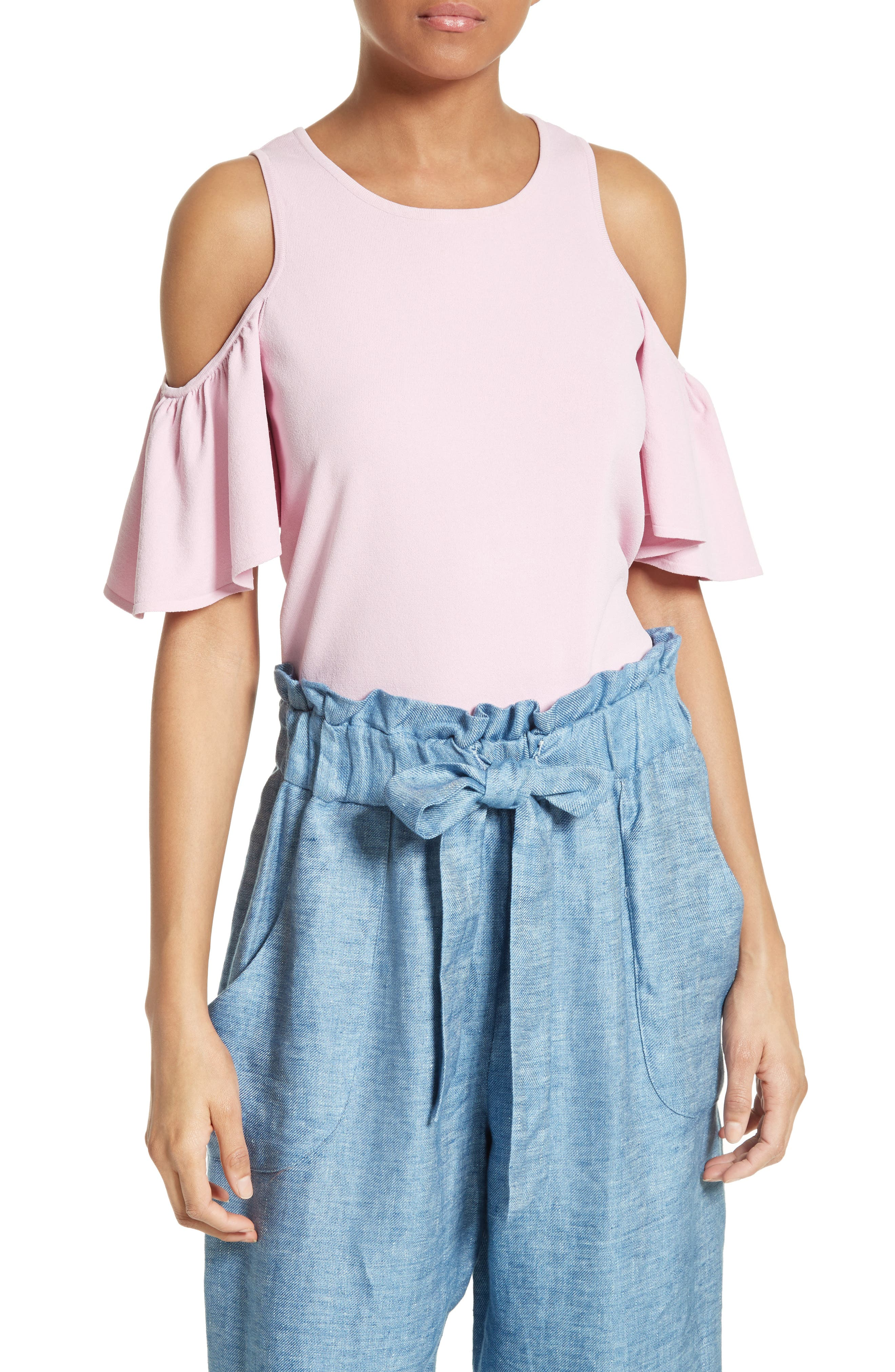 Milly Flutter Sleeve Top