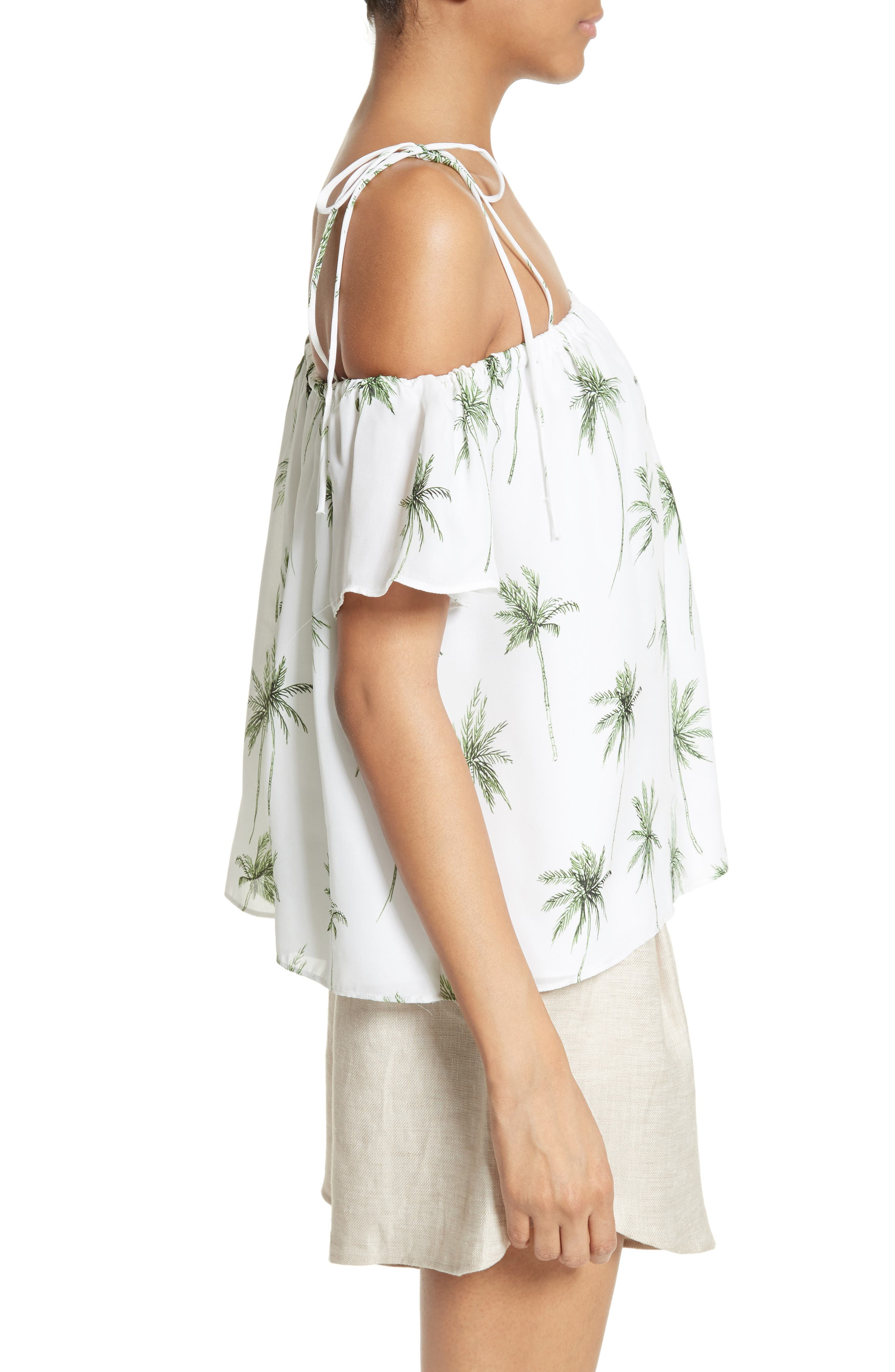 Alternate Image 3  - Milly Eden Palm Tree Print Top