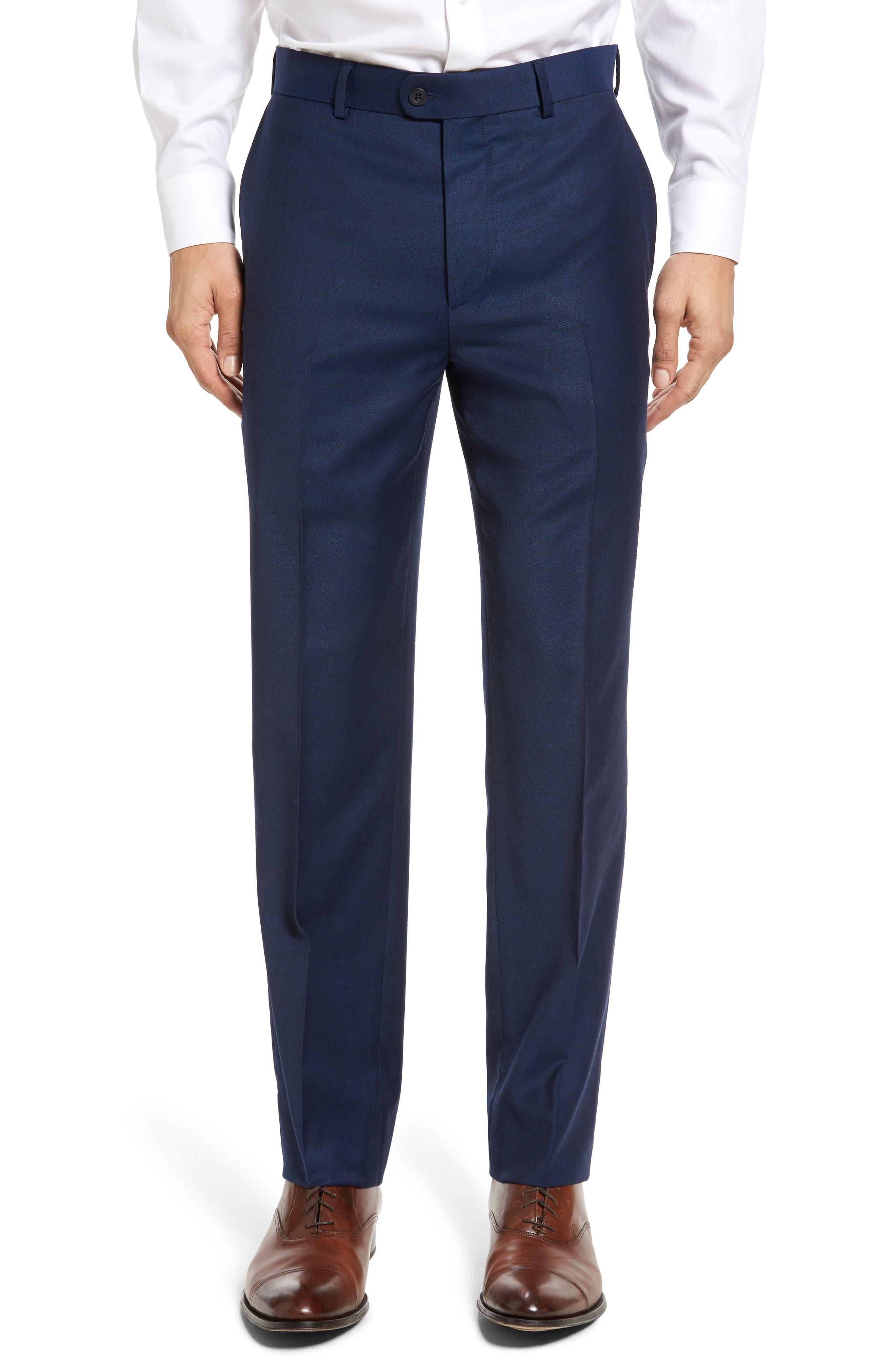 Bensol Gab Trim Fit Flat Front Pants