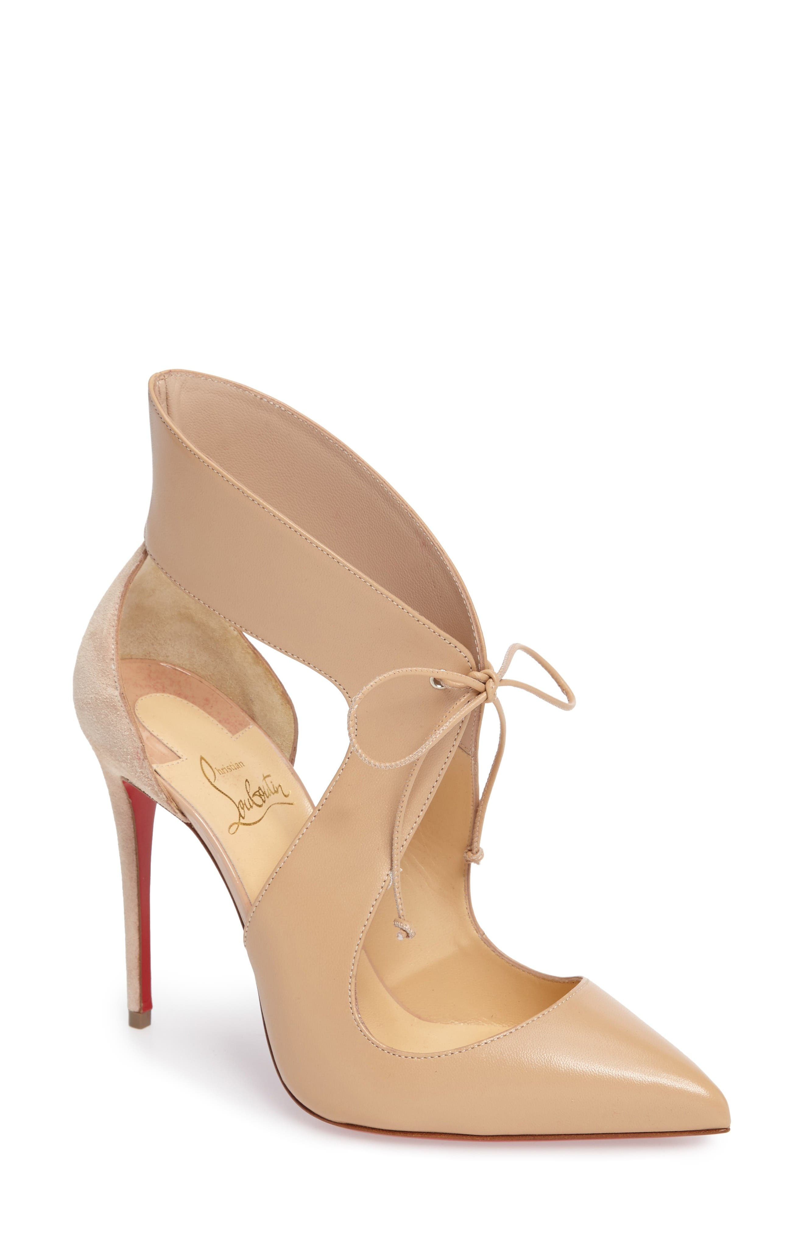 Alternate Image 1 Selected - Christian Louboutin Ferme Rouge Pointy Toe Pump (Women)