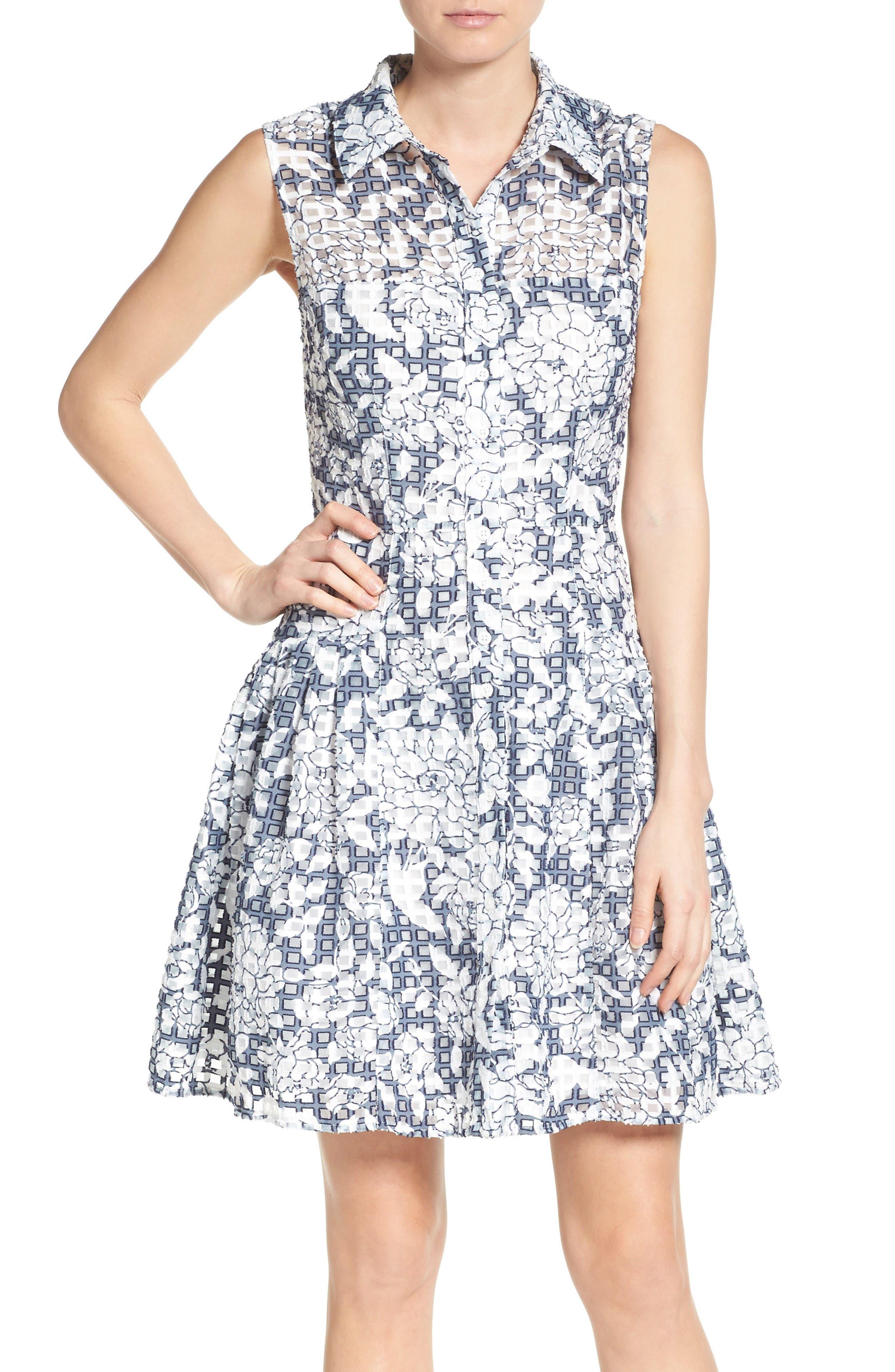Betsey Johnson Fit & Flare Shirtdress