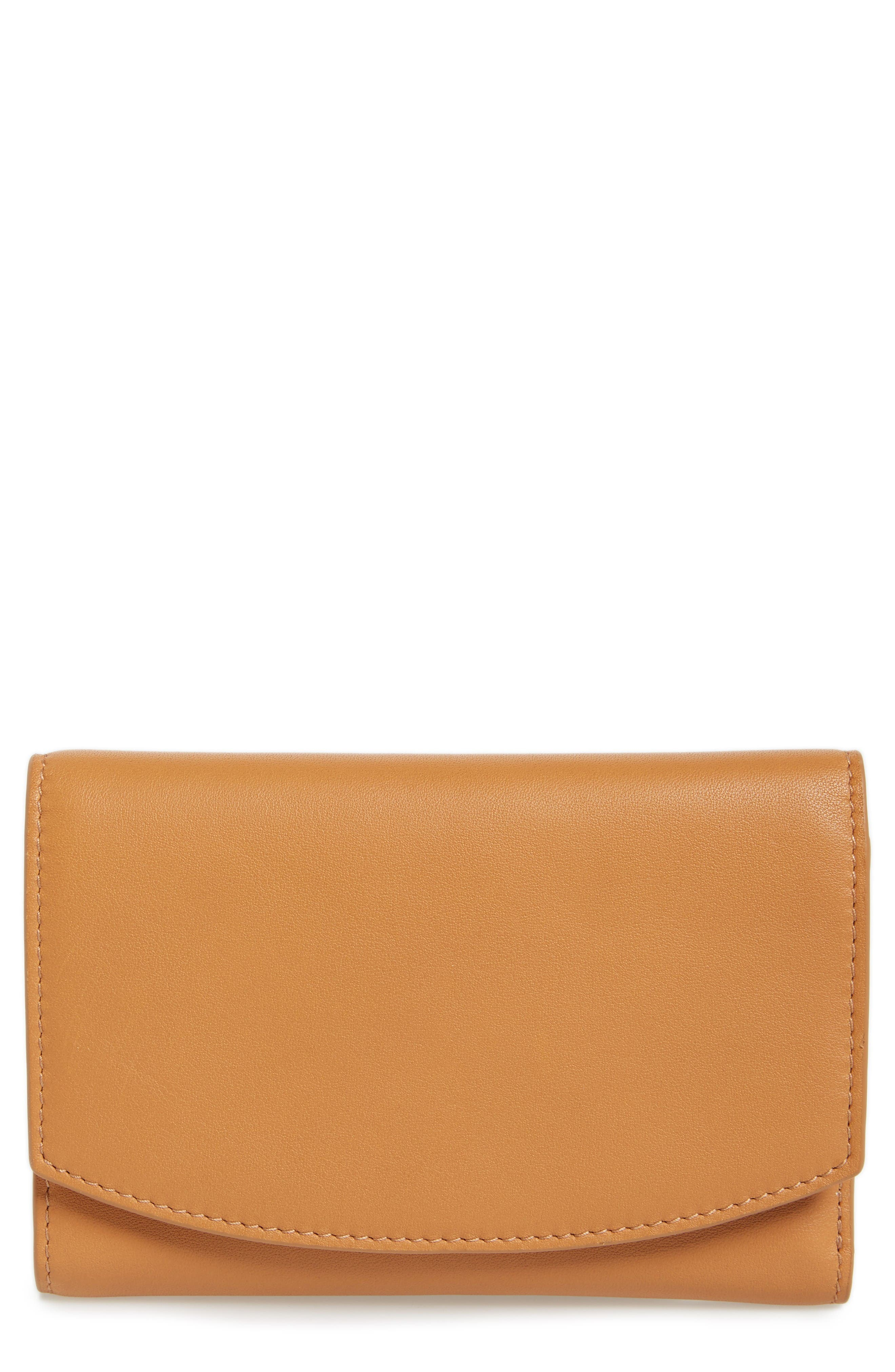 Main Image - Skagen Compact Leather Flap Wallet