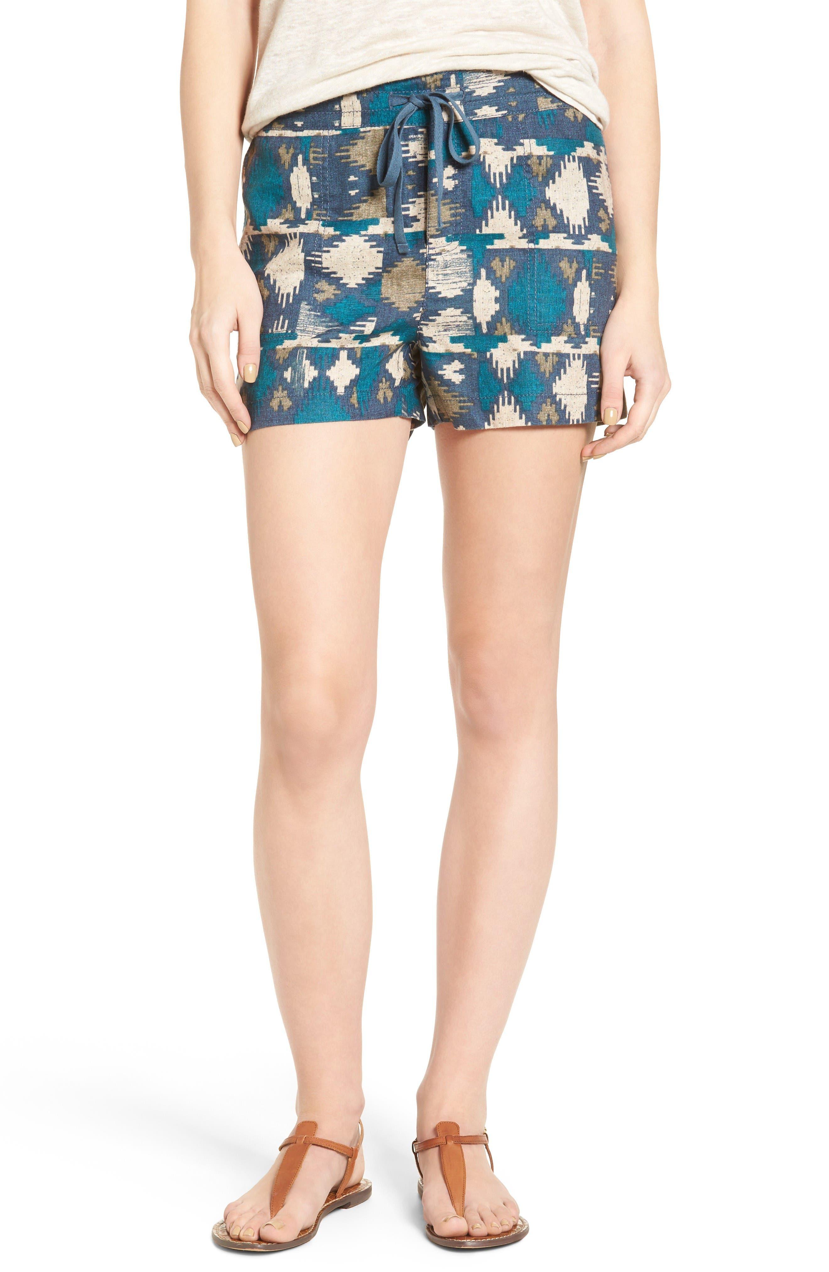 Caslon® Drawstring Linen Shorts (Regular & Petite)